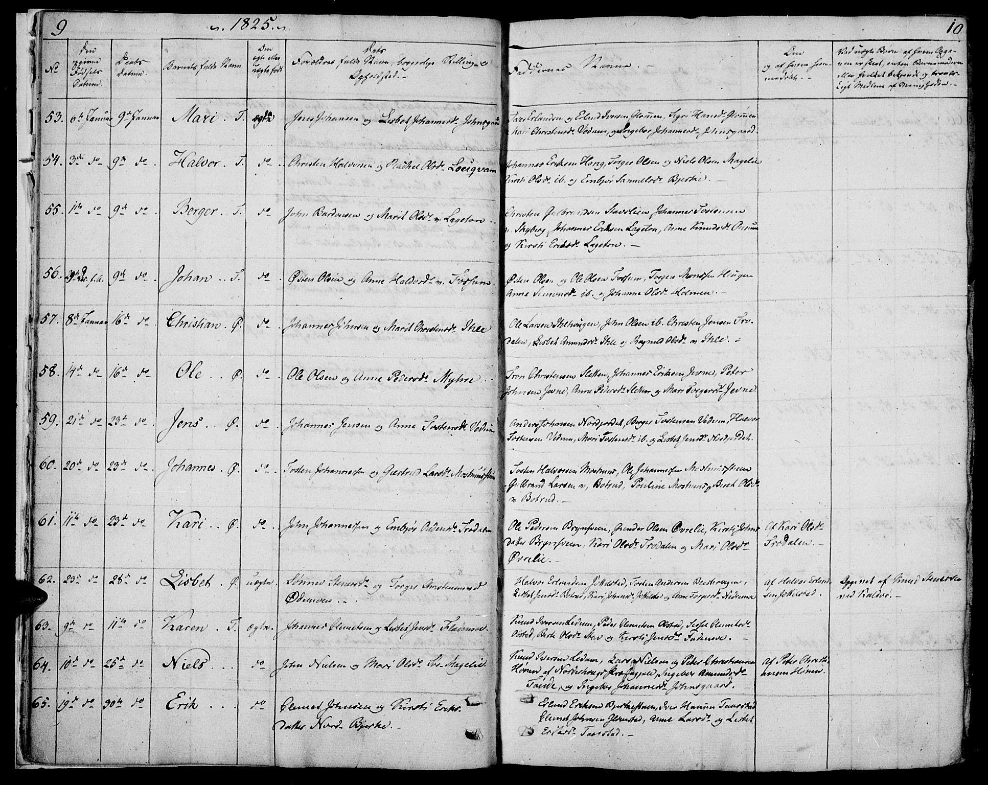 SAH, Øyer prestekontor, Ministerialbok nr. 4, 1824-1841, s. 9-10