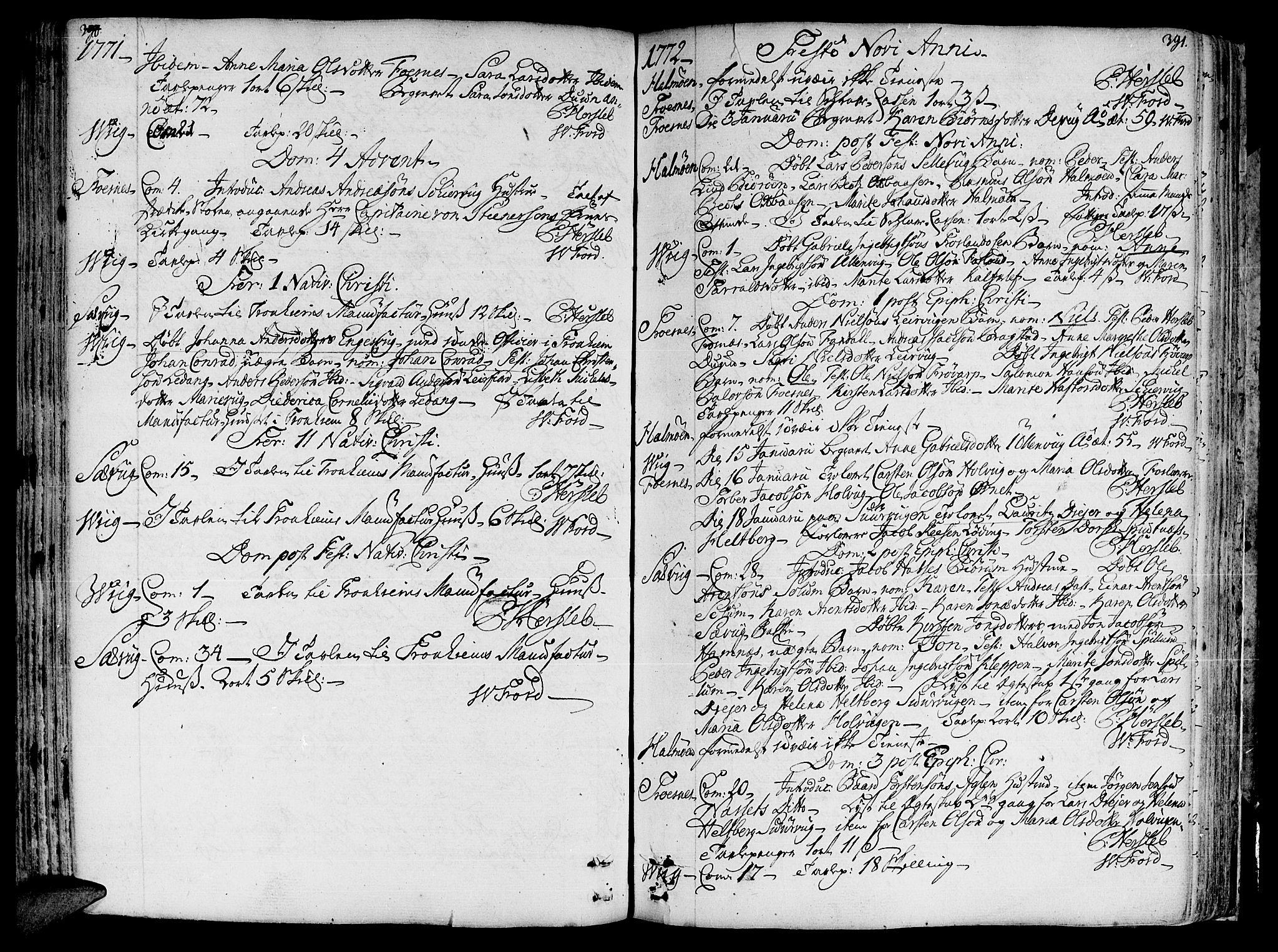 SAT, Ministerialprotokoller, klokkerbøker og fødselsregistre - Nord-Trøndelag, 773/L0607: Ministerialbok nr. 773A01, 1751-1783, s. 390-391