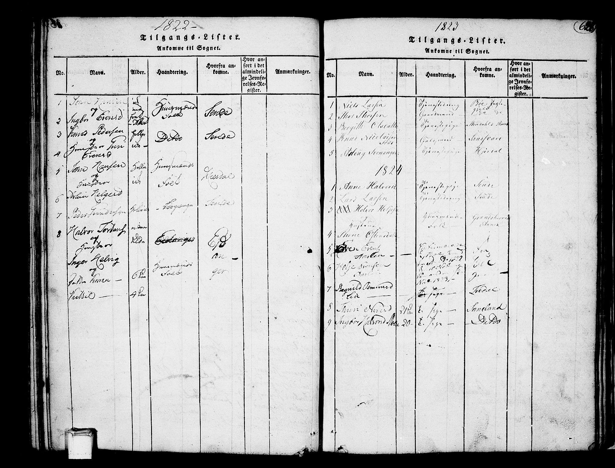 SAKO, Heddal kirkebøker, F/Fa/L0005: Ministerialbok nr. I 5, 1814-1837, s. 627-628