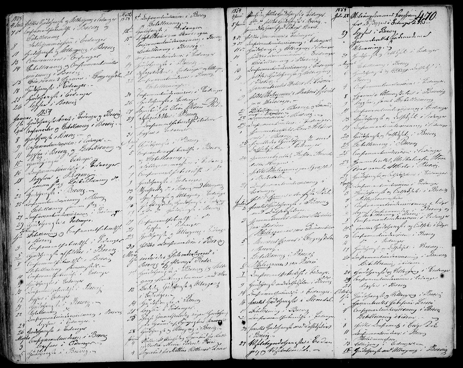 SAKO, Eidanger kirkebøker, F/Fa/L0008: Ministerialbok nr. 8, 1831-1858, s. 470