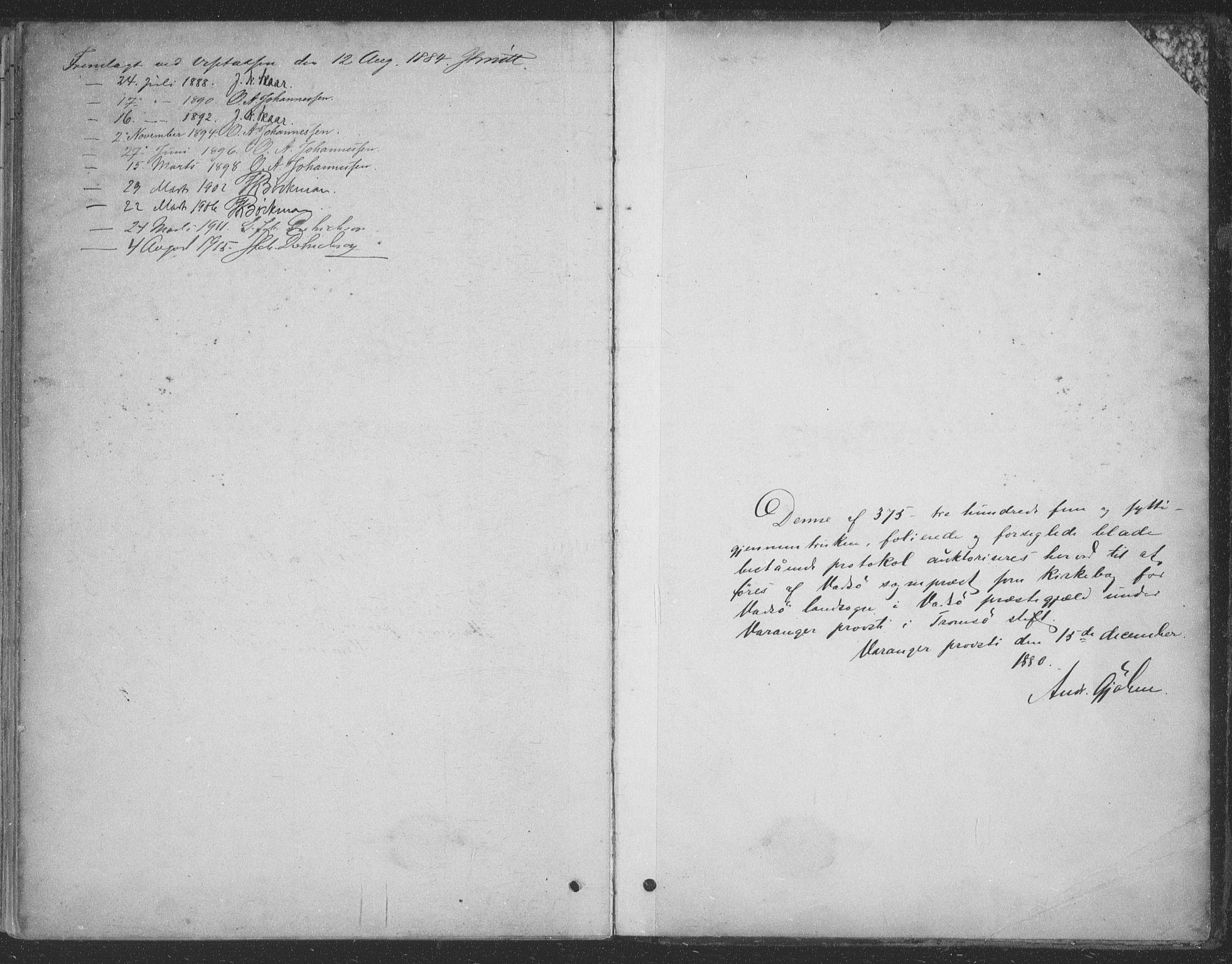 SATØ, Vadsø sokneprestkontor, H/Ha/L0009kirke: Ministerialbok nr. 9, 1881-1917, s. 371