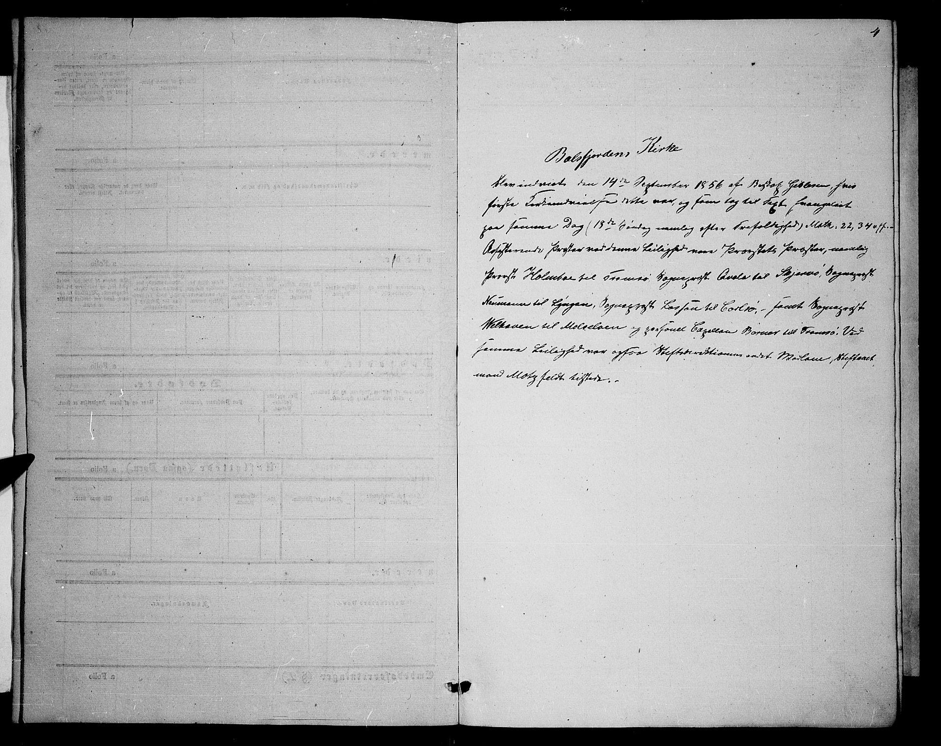 SATØ, Balsfjord sokneprestembete, Klokkerbok nr. 5, 1856-1862, s. 4