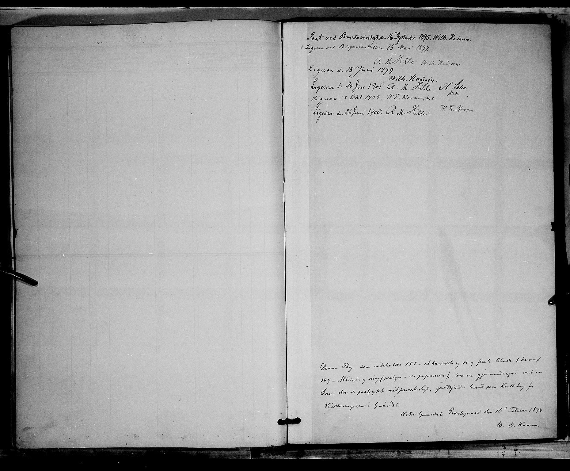 SAH, Østre Gausdal prestekontor, Klokkerbok nr. 2, 1894-1904