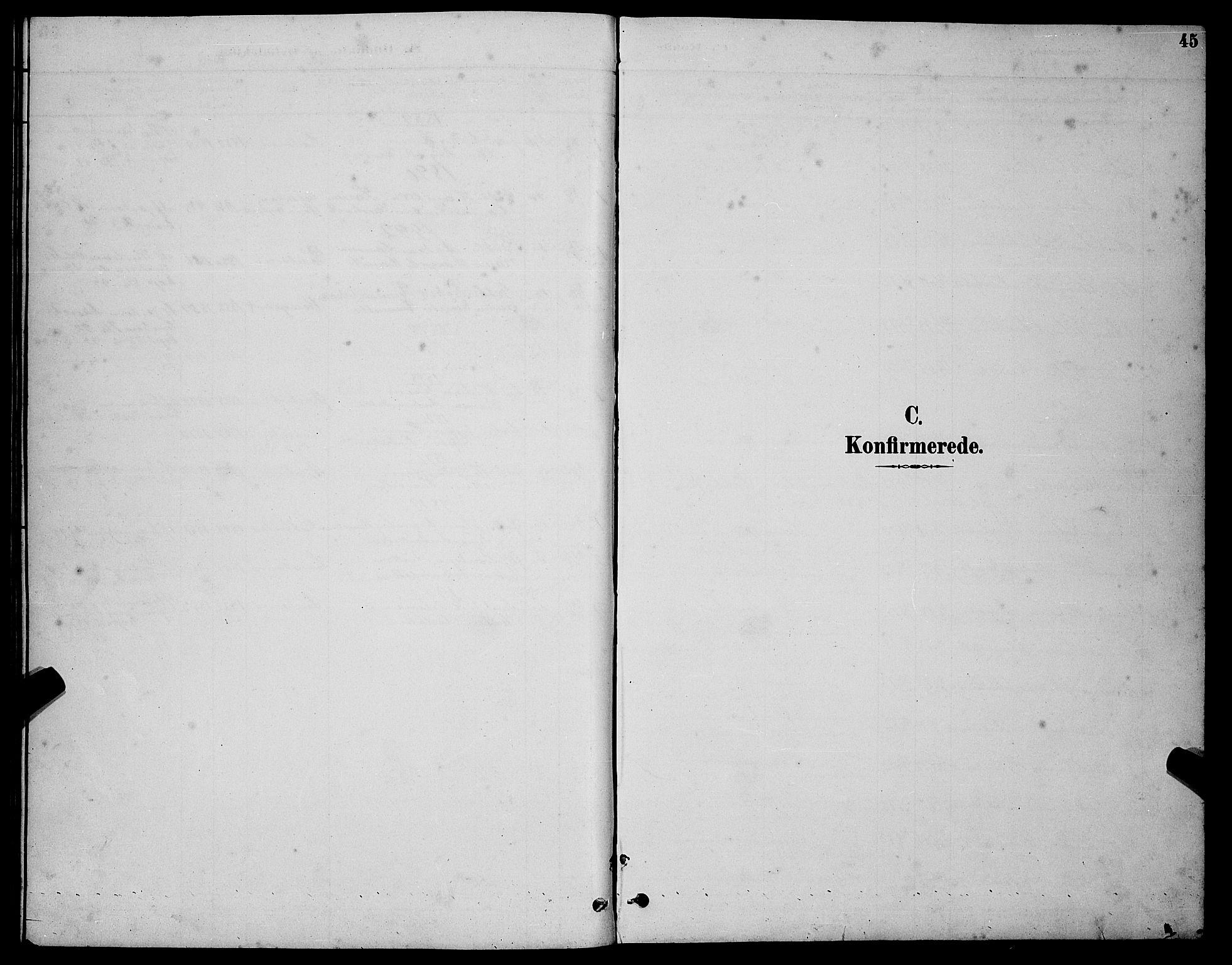 SATØ, Tranøy sokneprestkontor, I/Ia/Iab/L0004klokker: Klokkerbok nr. 4, 1888-1901, s. 45