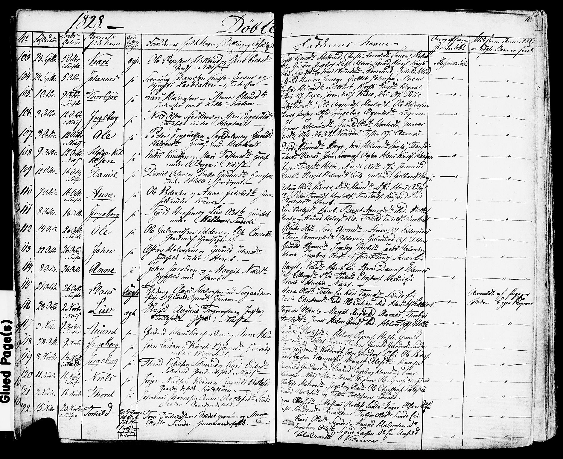 SAKO, Sauherad kirkebøker, F/Fa/L0006: Ministerialbok nr. I 6, 1827-1850, s. 10
