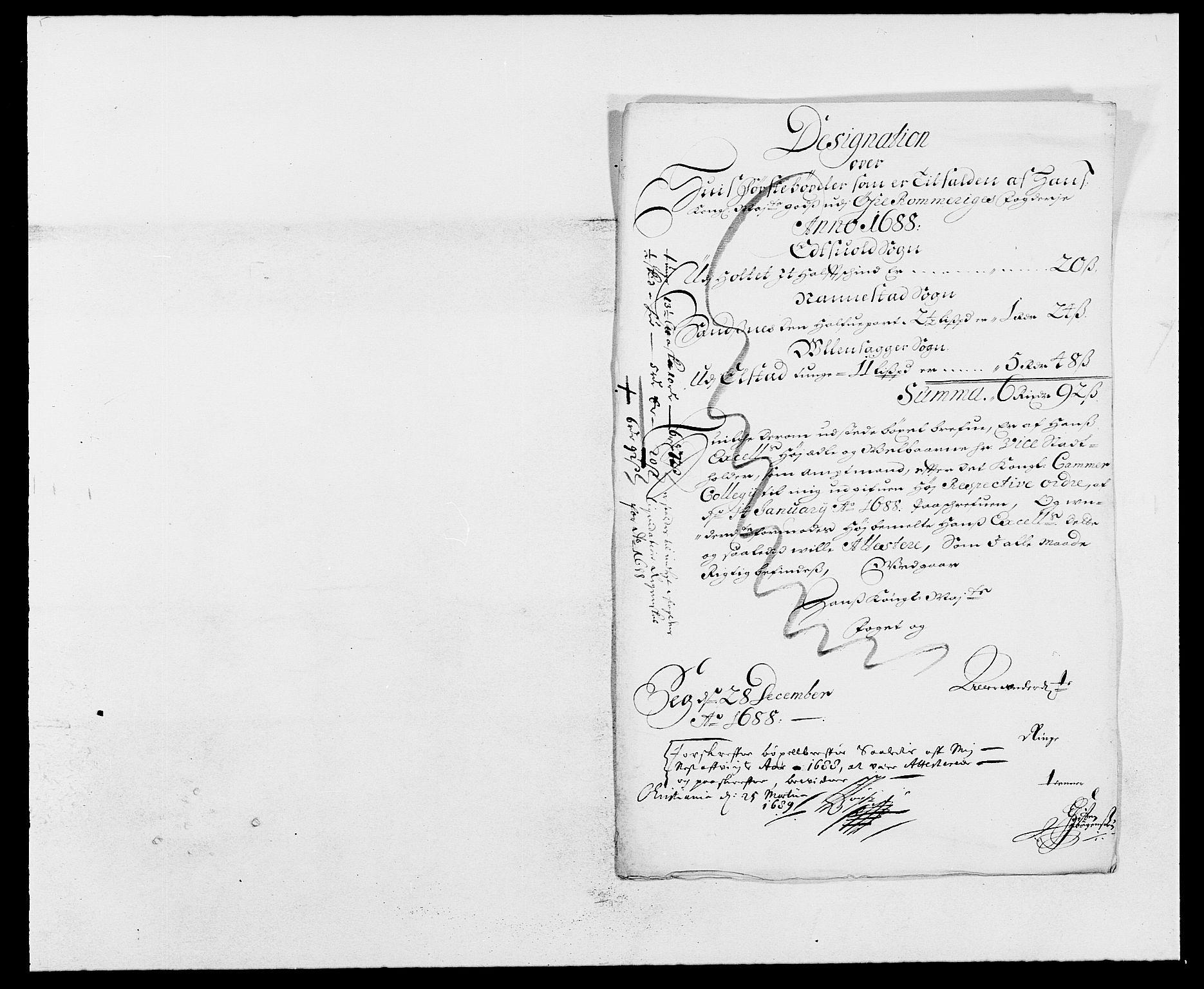 RA, Rentekammeret inntil 1814, Reviderte regnskaper, Fogderegnskap, R12/L0700: Fogderegnskap Øvre Romerike, 1687-1688, s. 318