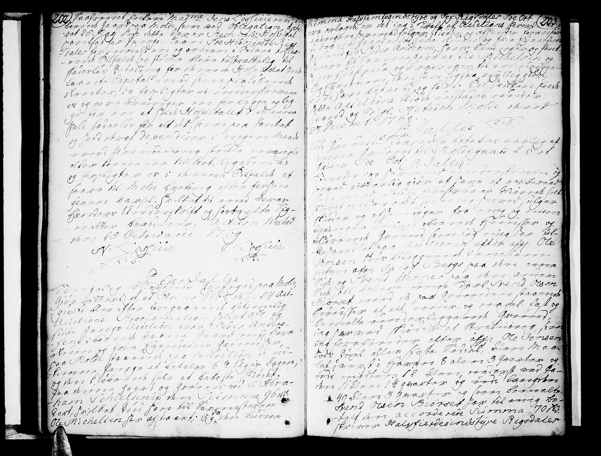 SAT, Molde byfogd, 2C/L0001: Pantebok nr. 1, 1748-1823, s. 202-203