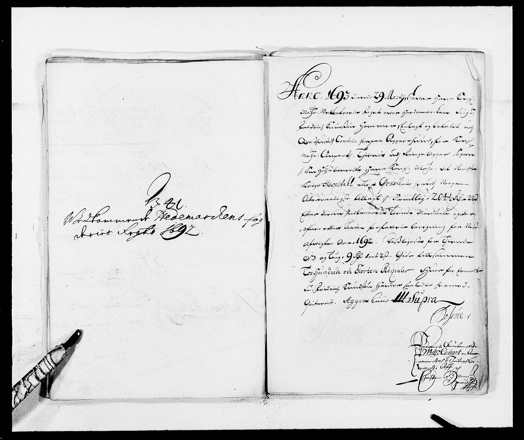 RA, Rentekammeret inntil 1814, Reviderte regnskaper, Fogderegnskap, R16/L1032: Fogderegnskap Hedmark, 1689-1692, s. 101