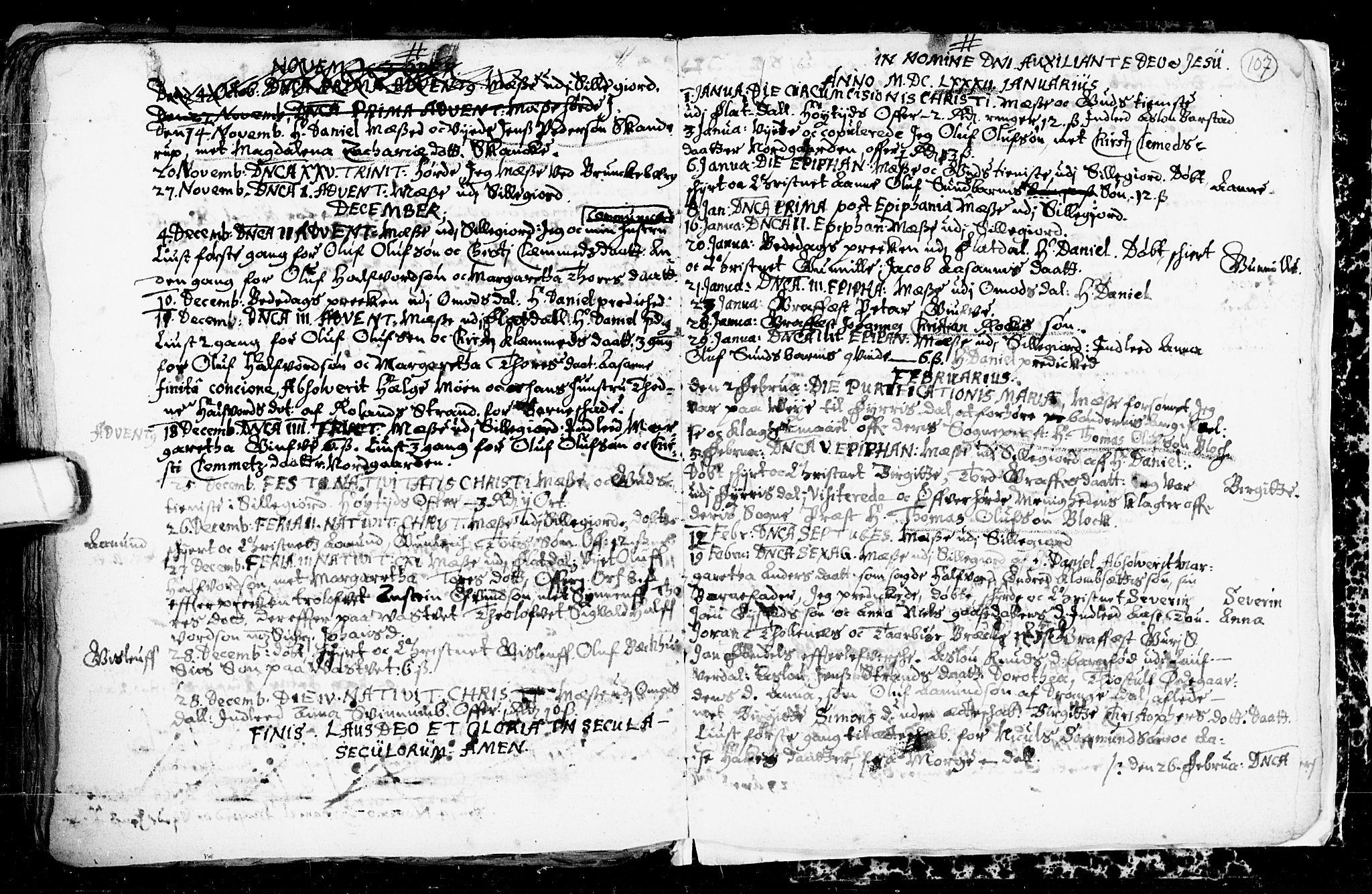 SAKO, Seljord kirkebøker, F/Fa/L0001: Ministerialbok nr. I 1, 1654-1686, s. 107