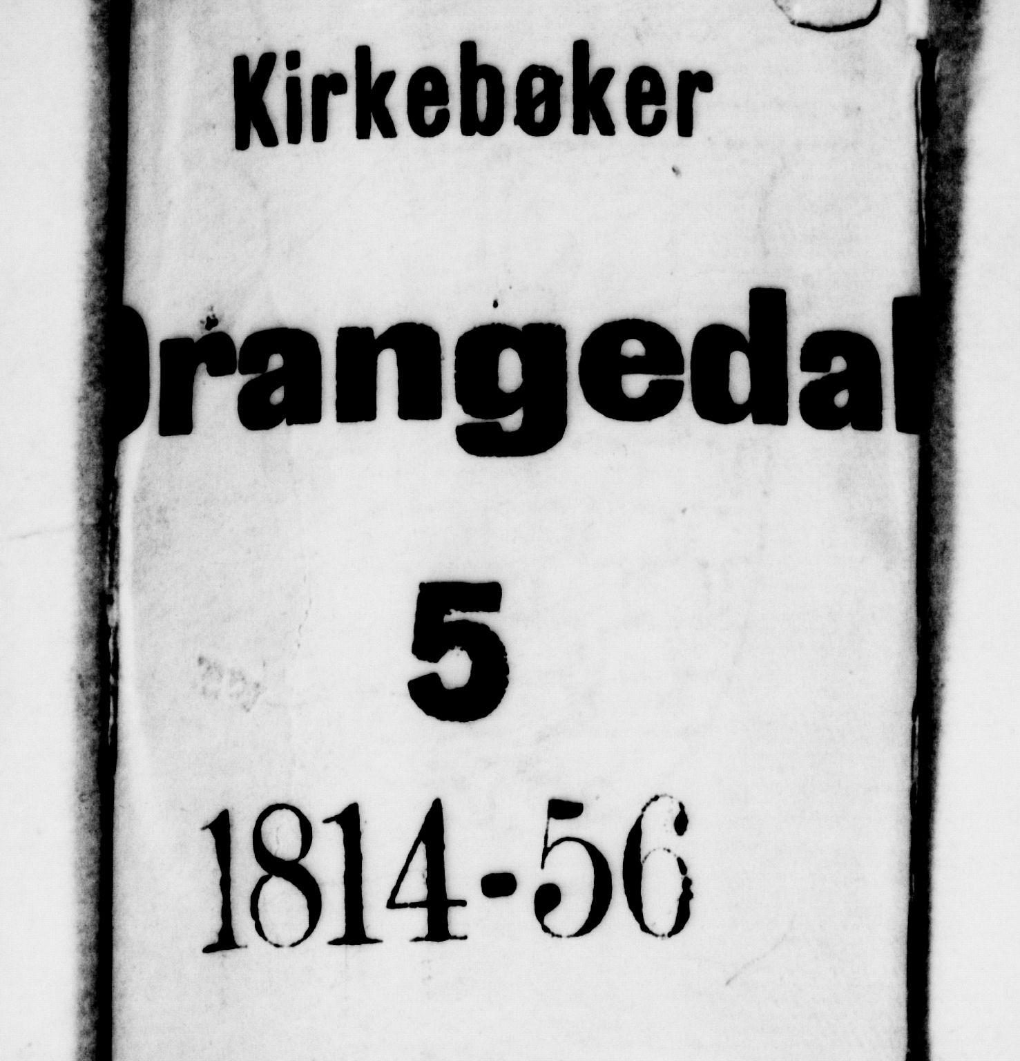 SAKO, Drangedal kirkebøker, G/Ga/L0001: Klokkerbok nr. I 1 /1, 1814-1856