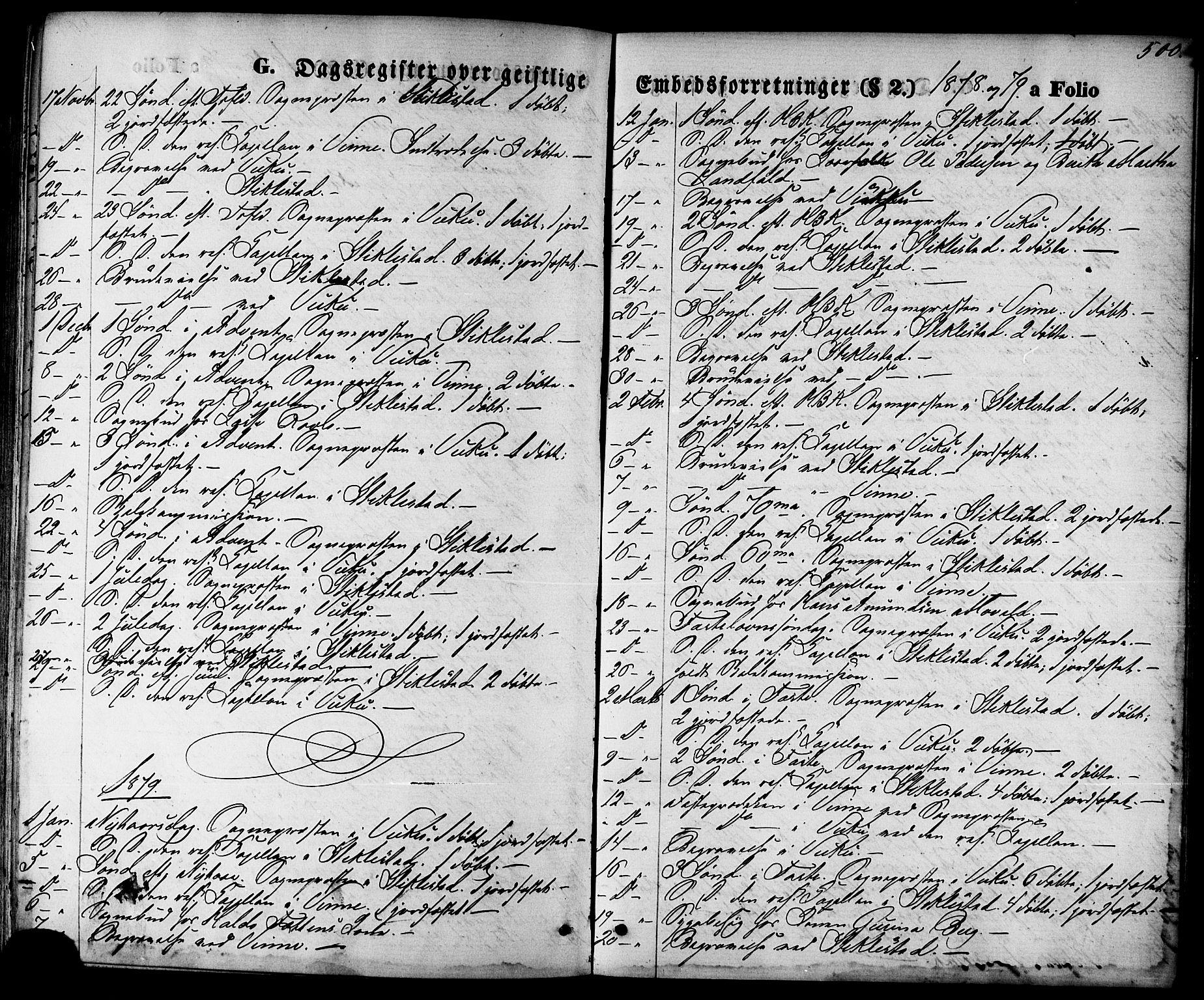 SAT, Ministerialprotokoller, klokkerbøker og fødselsregistre - Nord-Trøndelag, 723/L0242: Ministerialbok nr. 723A11, 1870-1880, s. 500