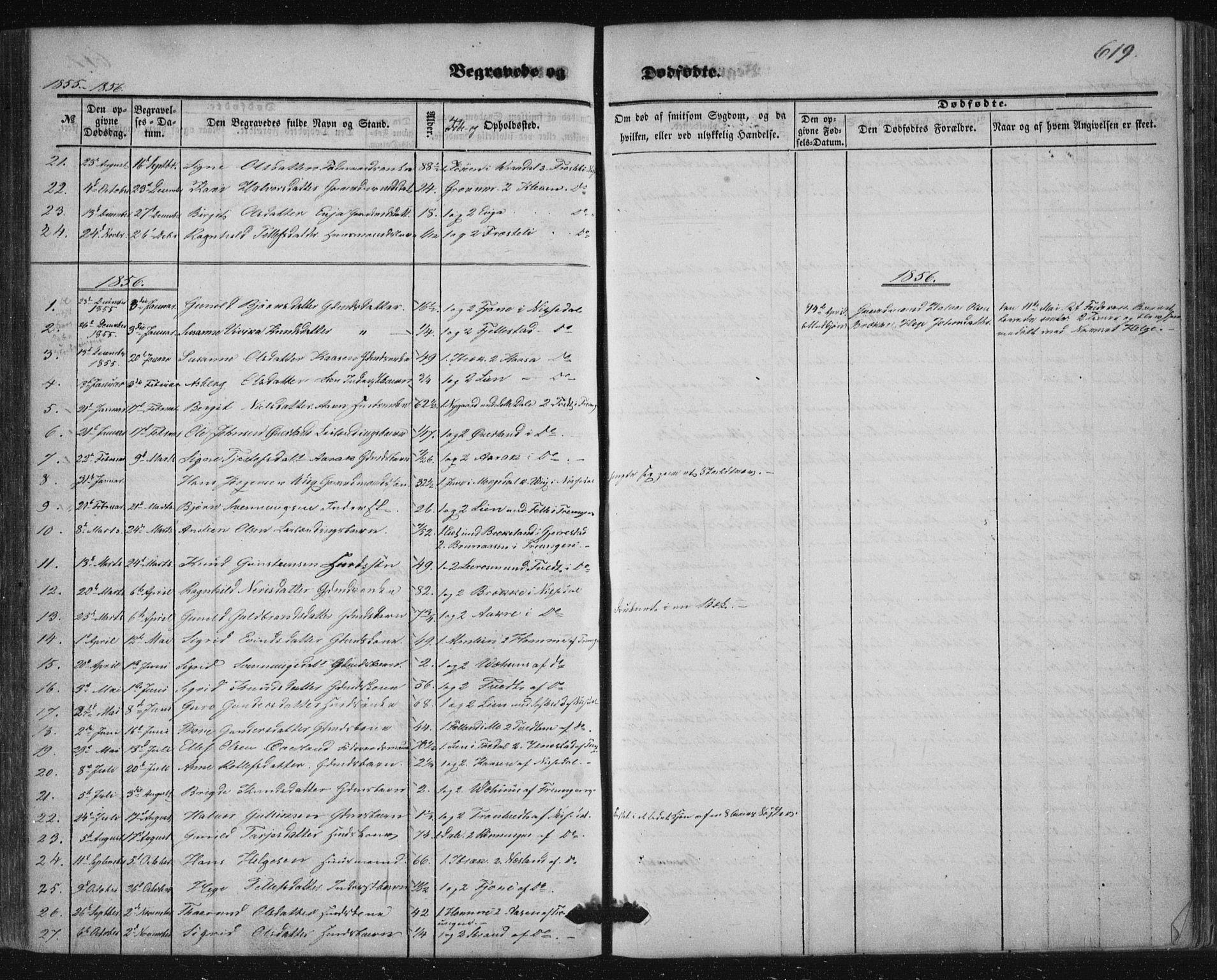 SAKO, Nissedal kirkebøker, F/Fa/L0003: Ministerialbok nr. I 3, 1846-1870, s. 618-619