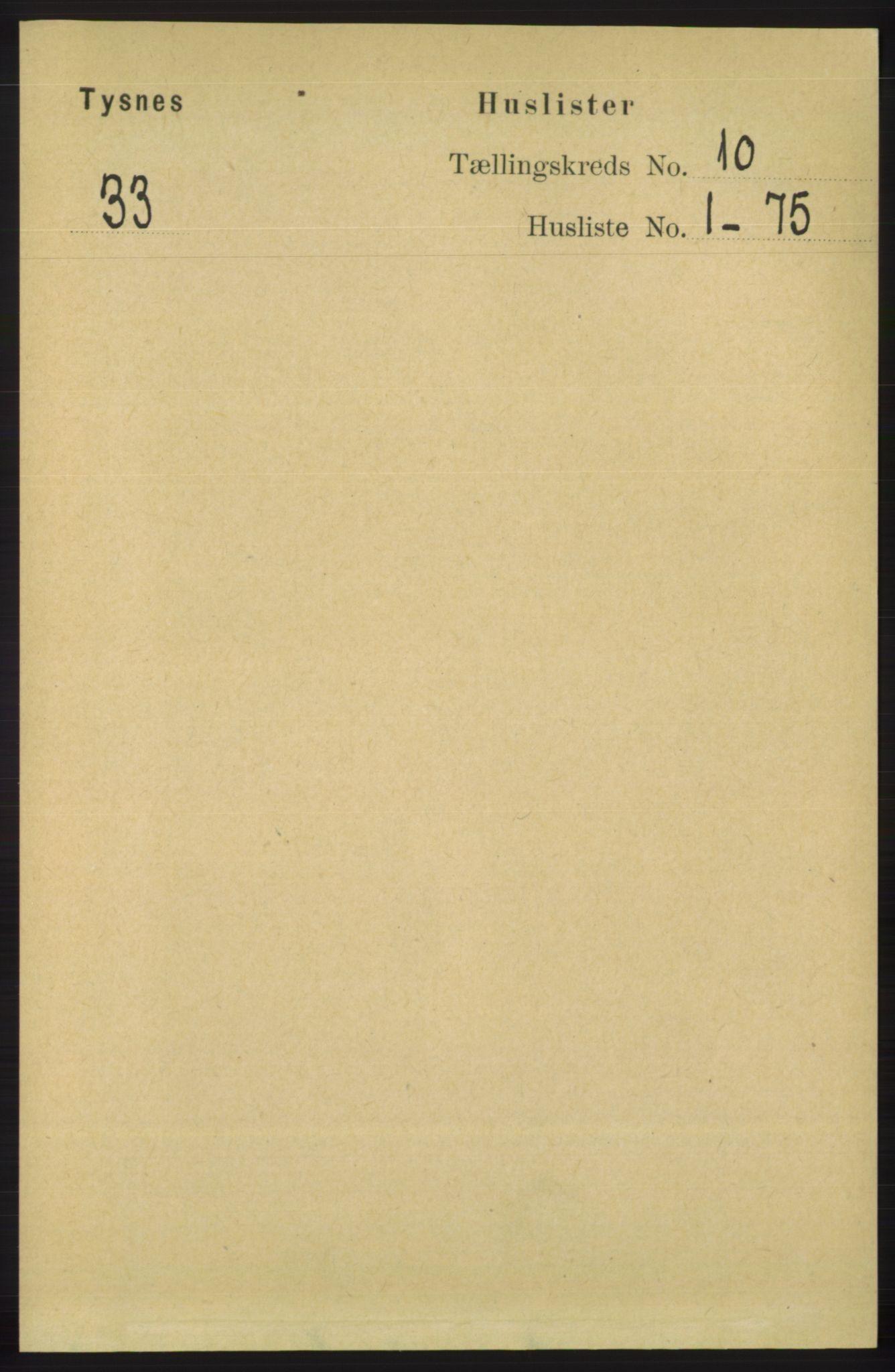 RA, Folketelling 1891 for 1223 Tysnes herred, 1891, s. 4775