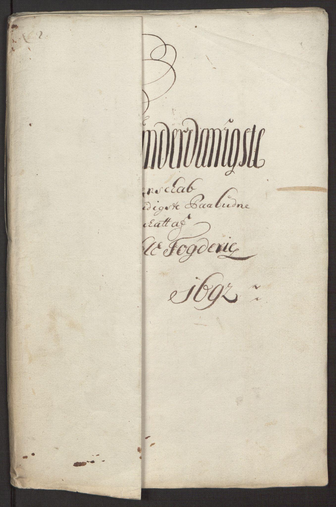 RA, Rentekammeret inntil 1814, Reviderte regnskaper, Fogderegnskap, R34/L2052: Fogderegnskap Bamble, 1692-1693, s. 163