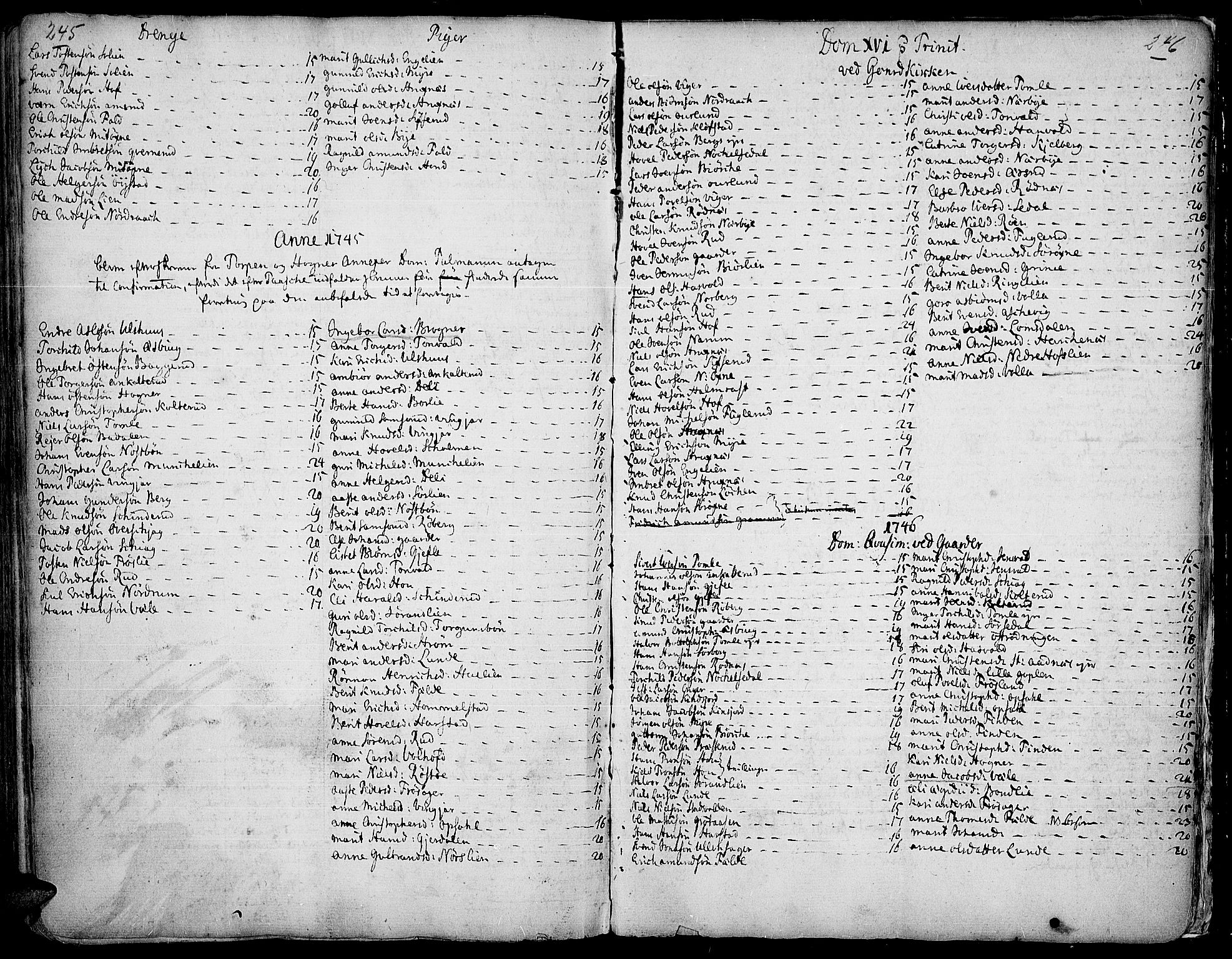 SAH, Land prestekontor, Ministerialbok nr. 2, 1733-1764, s. 245-246