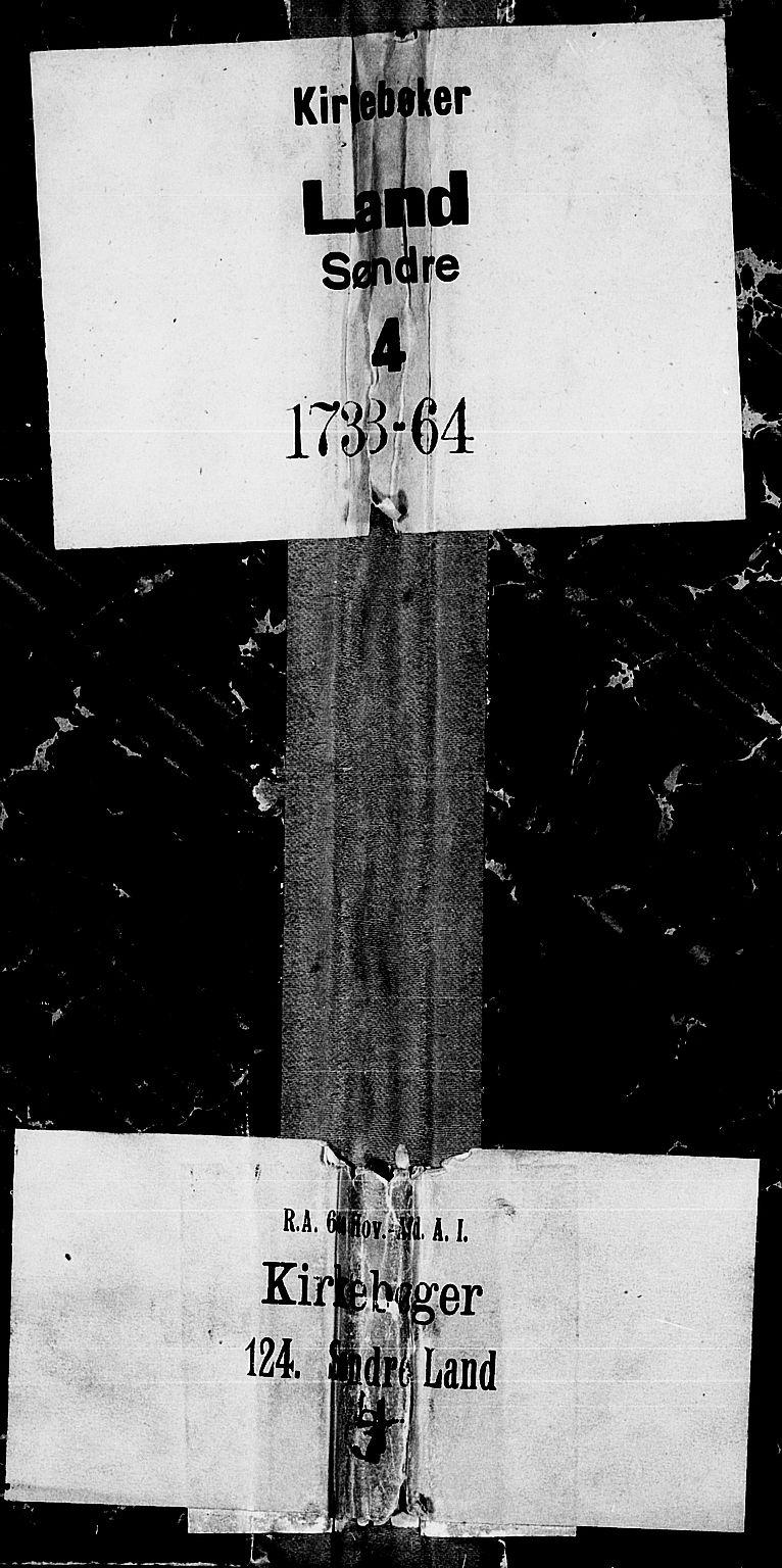 SAH, Land prestekontor, Ministerialbok nr. 4, 1733-1764