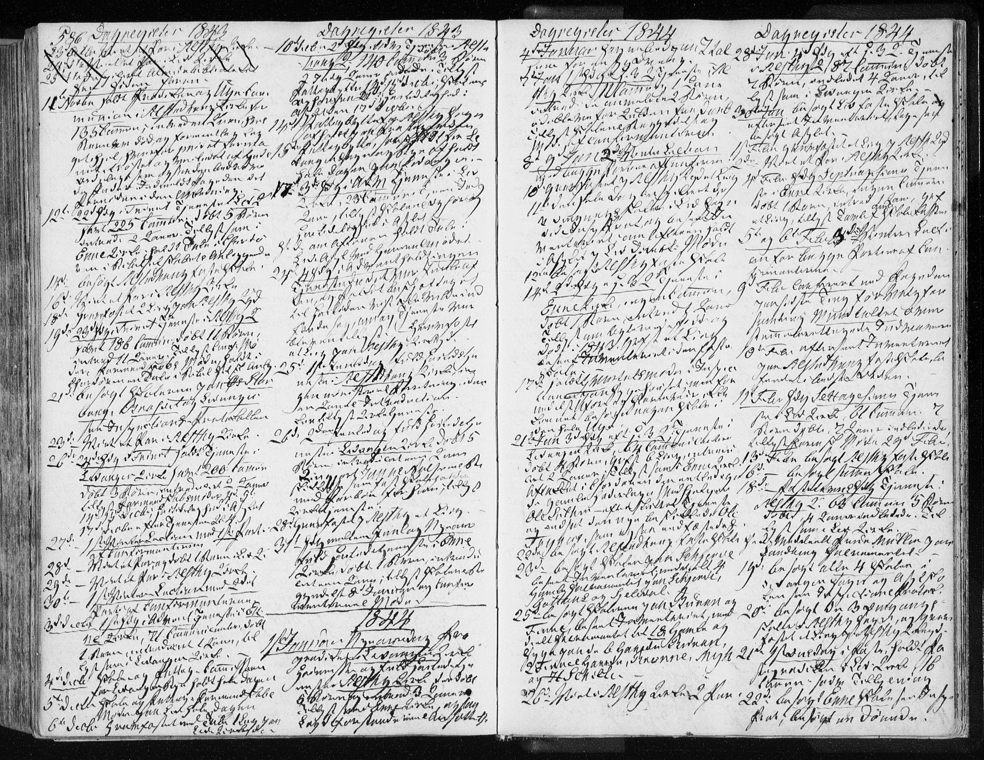 SAT, Ministerialprotokoller, klokkerbøker og fødselsregistre - Nord-Trøndelag, 717/L0154: Ministerialbok nr. 717A06 /1, 1836-1849, s. 586