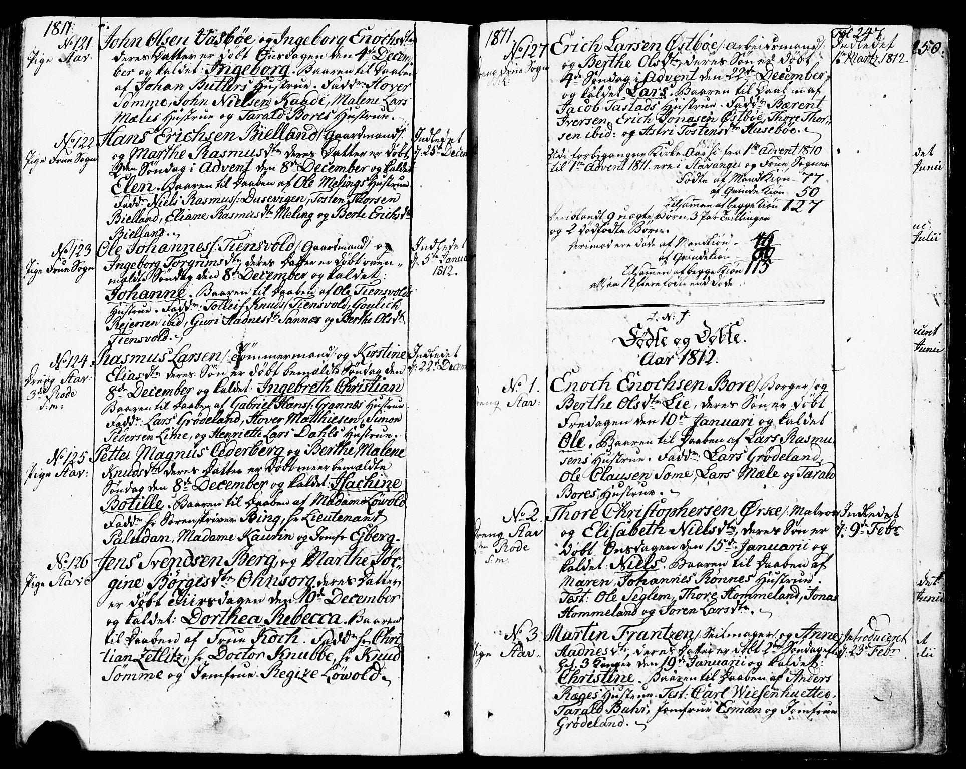 SAST, Domkirken sokneprestkontor, 30/30BB/L0007: Klokkerbok nr. B 7, 1791-1813, s. 247