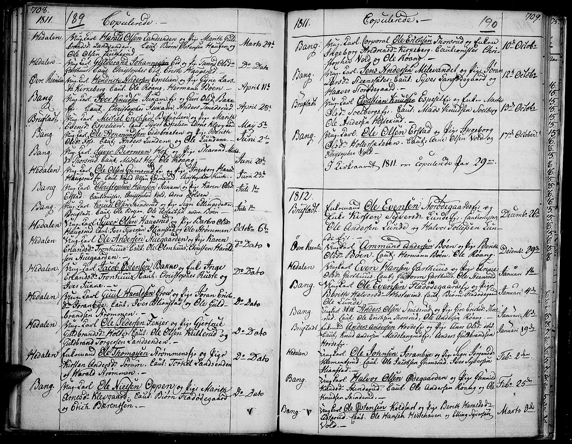 SAH, Sør-Aurdal prestekontor, Ministerialbok nr. 1, 1807-1815, s. 189-190
