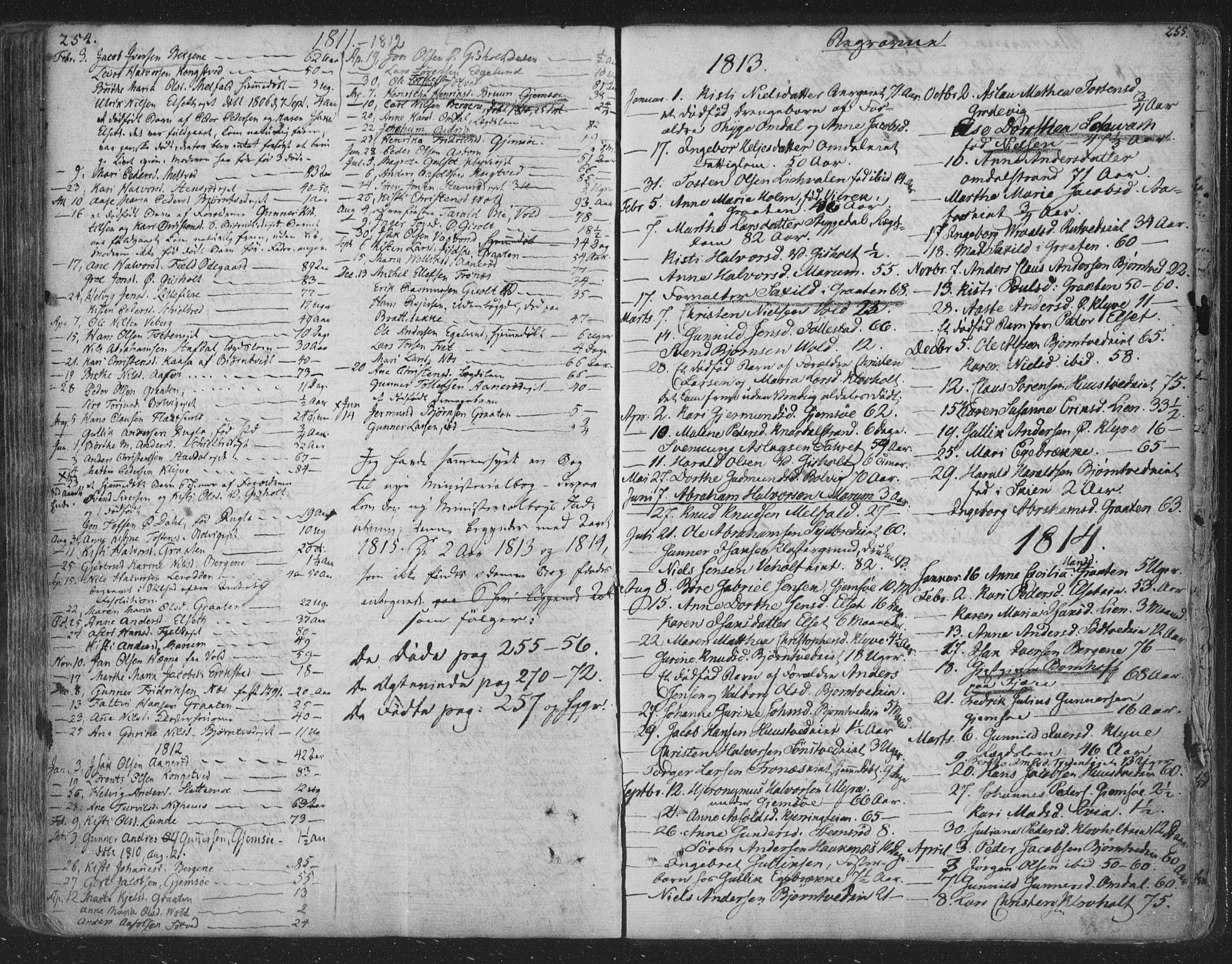 SAKO, Solum kirkebøker, F/Fa/L0003: Ministerialbok nr. I 3, 1761-1814, s. 254-255
