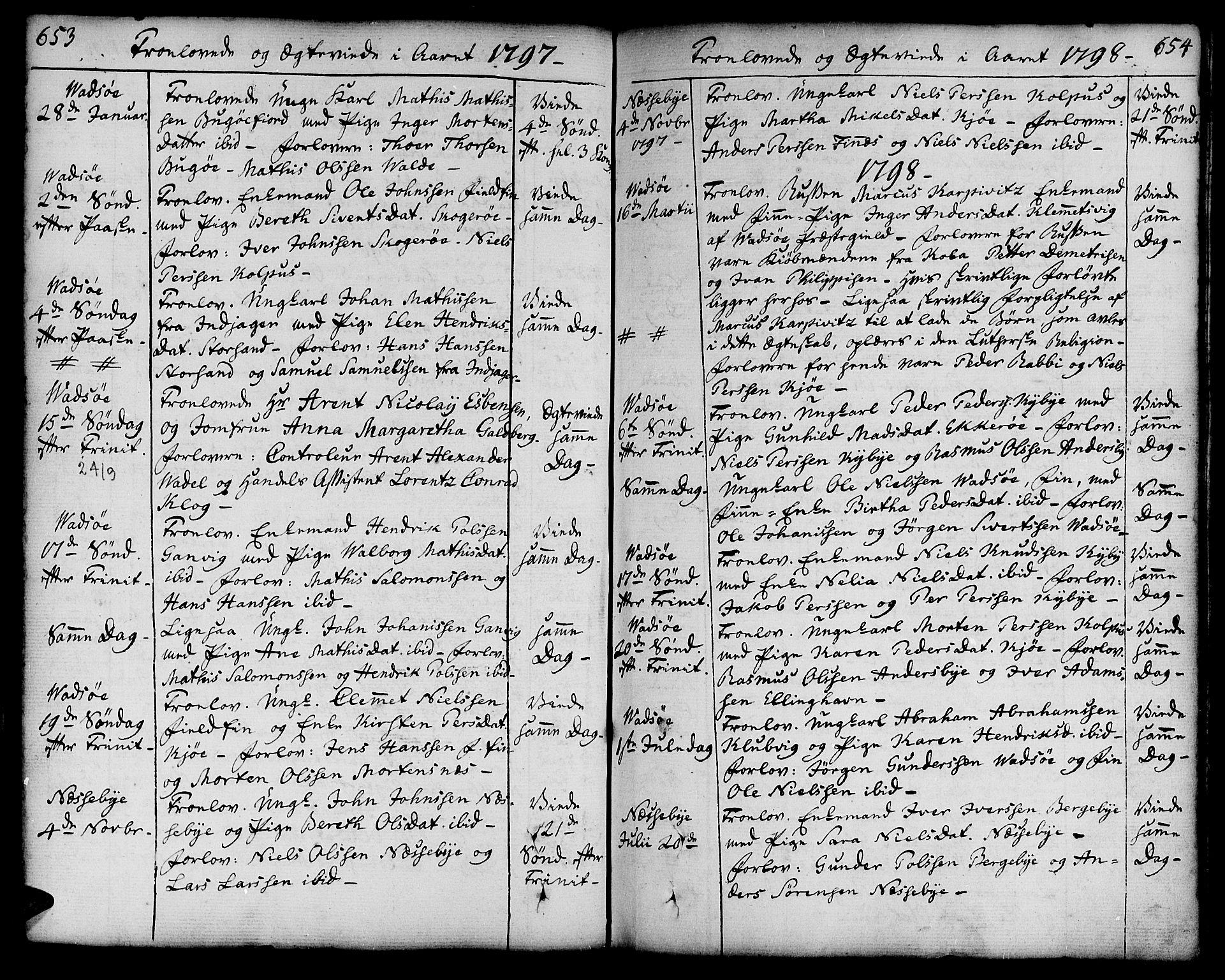 SATØ, Vadsø soknepreskontor, H/Ha/L0002kirke: Ministerialbok nr. 2, 1764-1821, s. 653-654