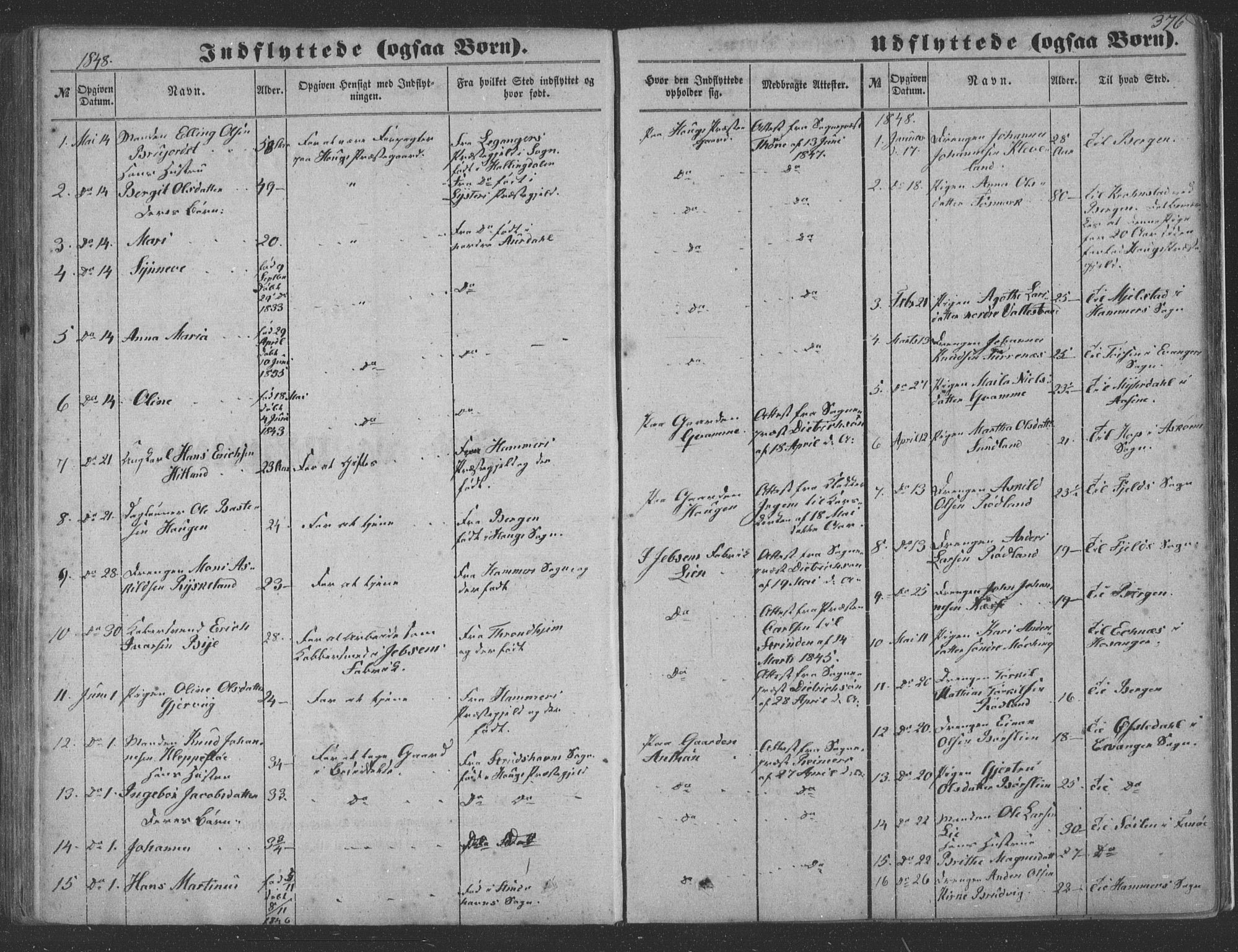 SAB, Haus Sokneprestembete, H/Haa: Ministerialbok nr. A 16 II, 1848-1857, s. 376