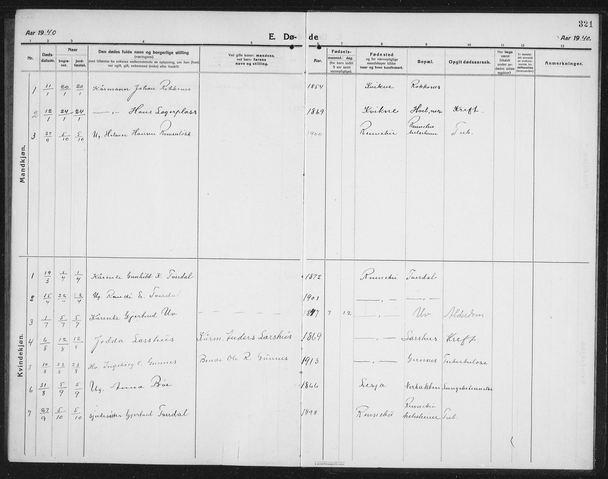 SAT, Ministerialprotokoller, klokkerbøker og fødselsregistre - Sør-Trøndelag, 674/L0877: Klokkerbok nr. 674C04, 1913-1940, s. 321