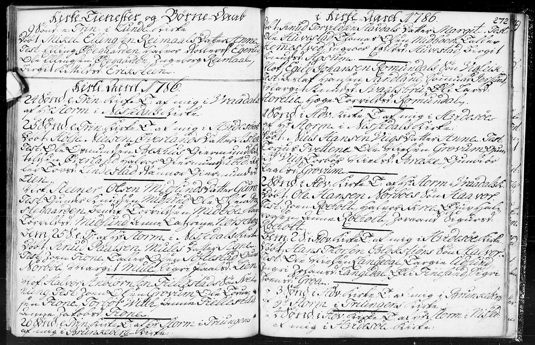 SAKO, Kviteseid kirkebøker, F/Fa/L0002: Ministerialbok nr. I 2, 1773-1786, s. 272
