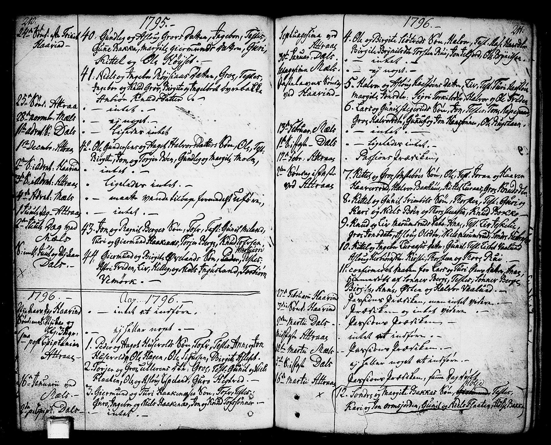 SAKO, Tinn kirkebøker, F/Fa/L0002: Ministerialbok nr. I 2, 1757-1810, s. 210-211