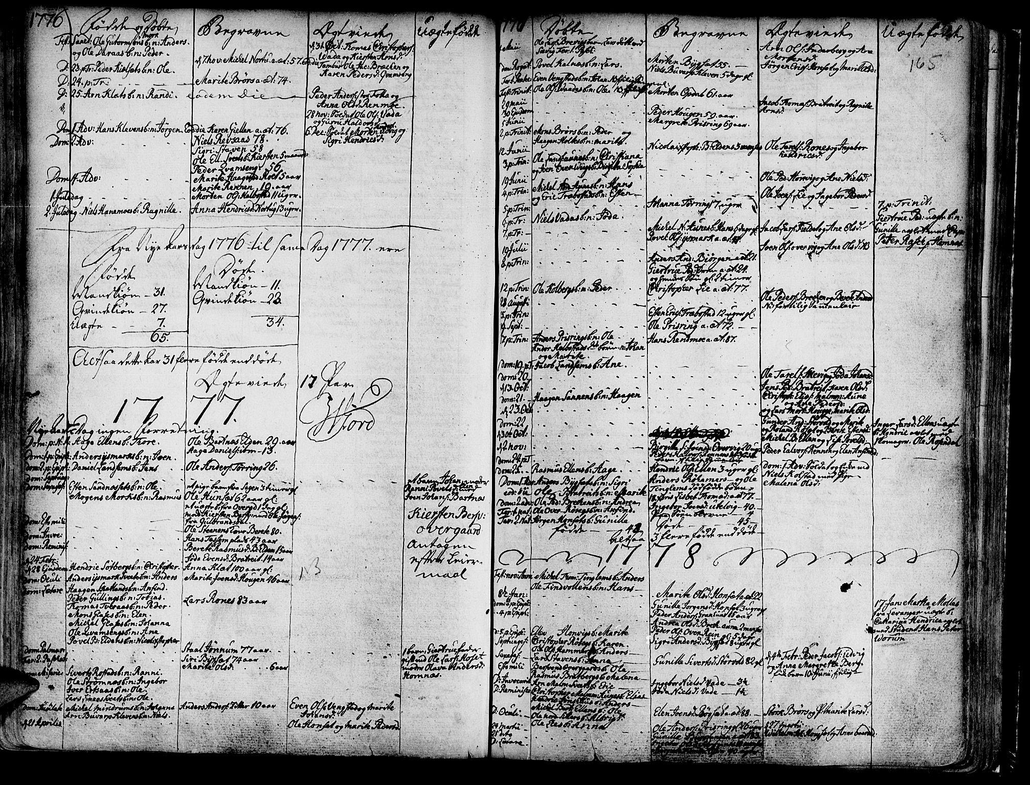 SAT, Ministerialprotokoller, klokkerbøker og fødselsregistre - Nord-Trøndelag, 741/L0385: Ministerialbok nr. 741A01, 1722-1815, s. 165
