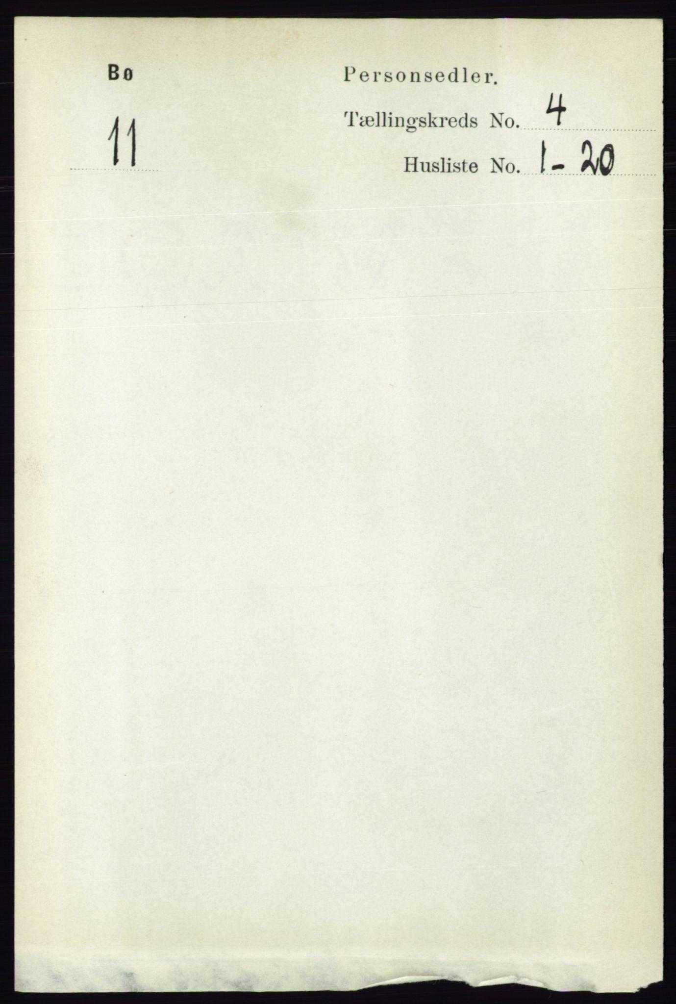 RA, Folketelling 1891 for 0821 Bø herred, 1891, s. 1223