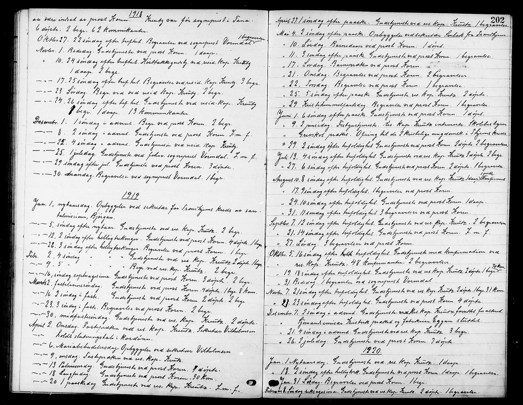 SAT, Ministerialprotokoller, klokkerbøker og fødselsregistre - Sør-Trøndelag, 669/L0831: Klokkerbok nr. 669C01, 1909-1924, s. 202
