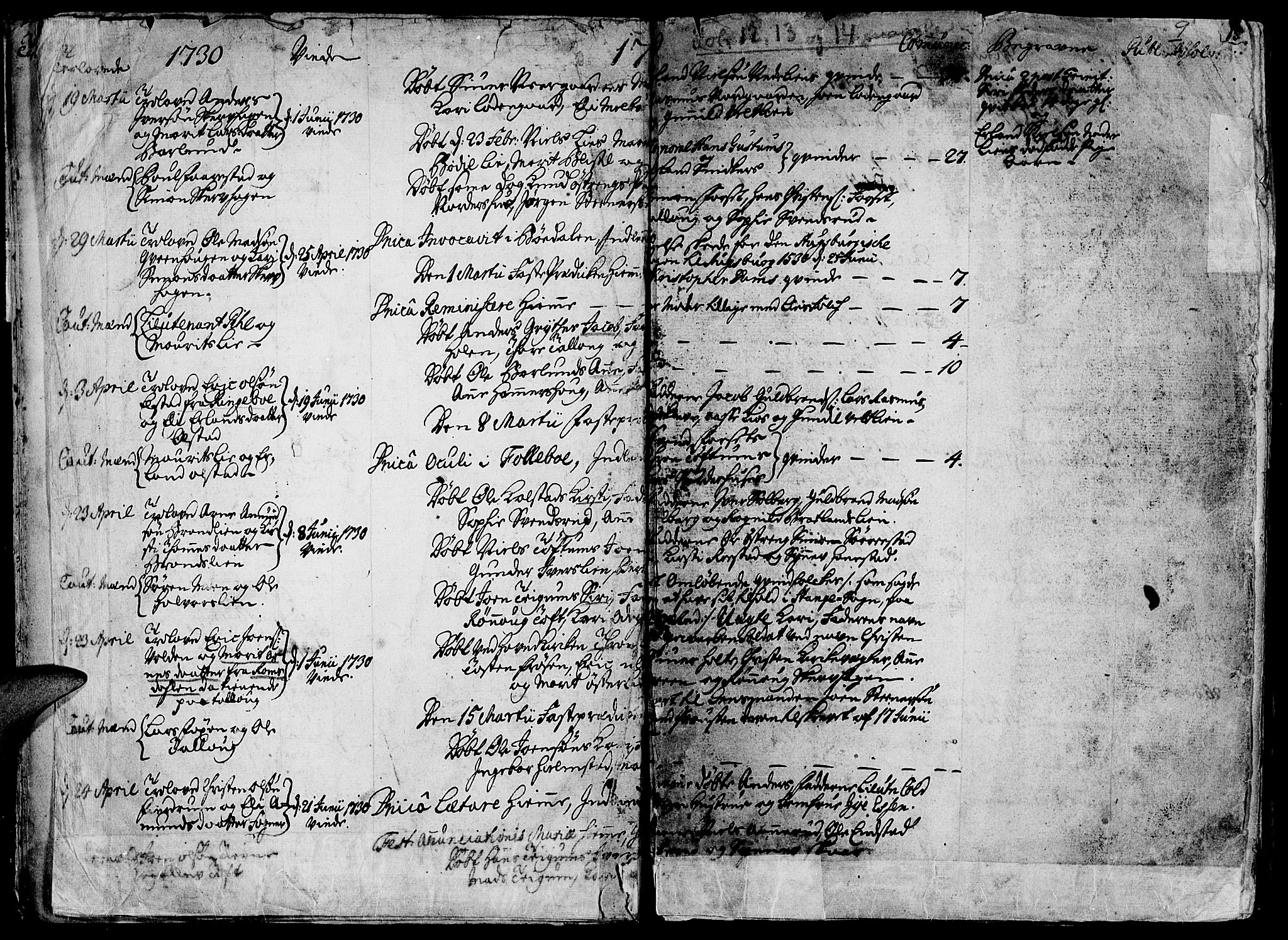 SAH, Gausdal prestekontor, Ministerialbok nr. 2, 1729-1757, s. 9