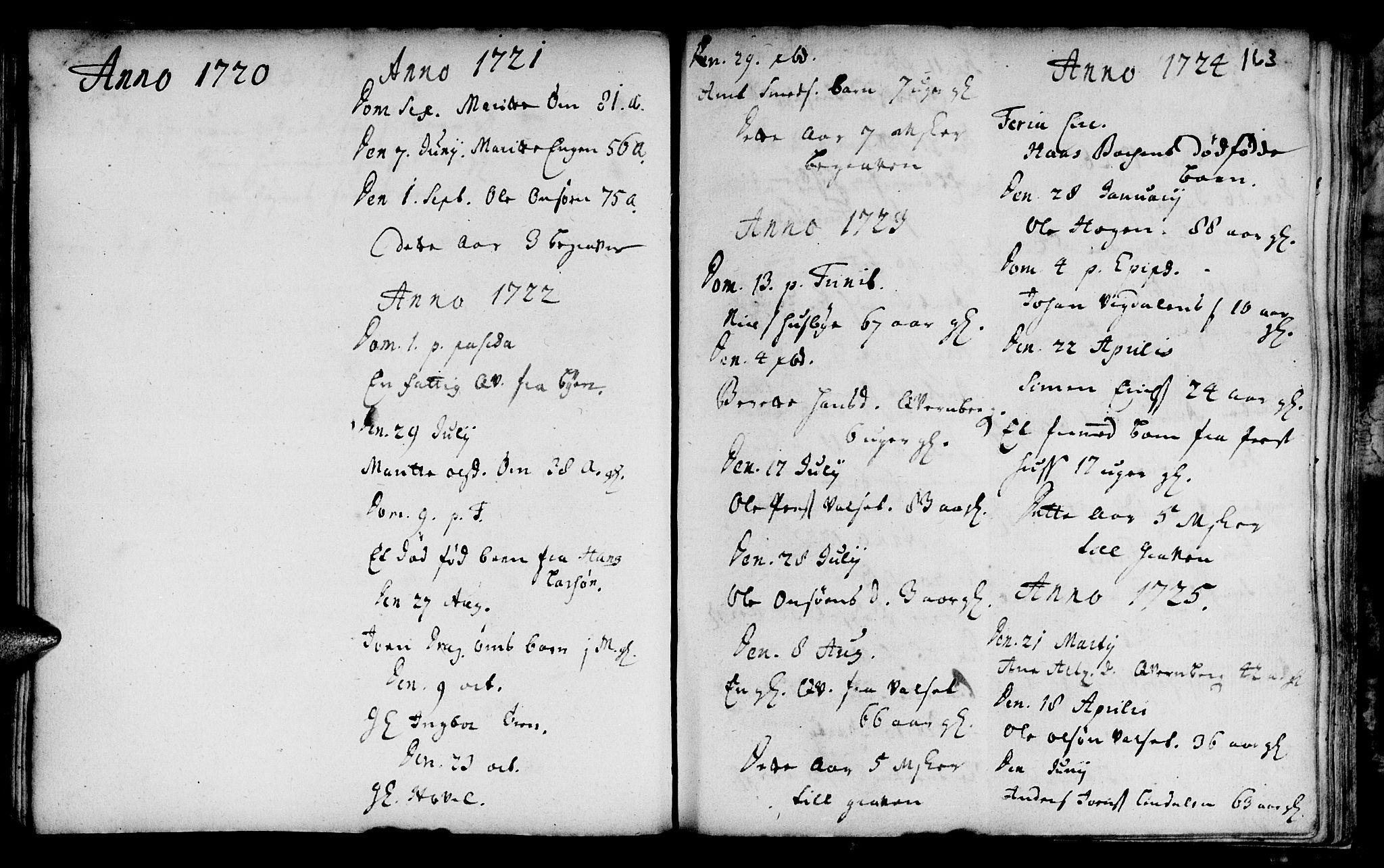 SAT, Ministerialprotokoller, klokkerbøker og fødselsregistre - Sør-Trøndelag, 666/L0783: Ministerialbok nr. 666A01, 1702-1753, s. 163