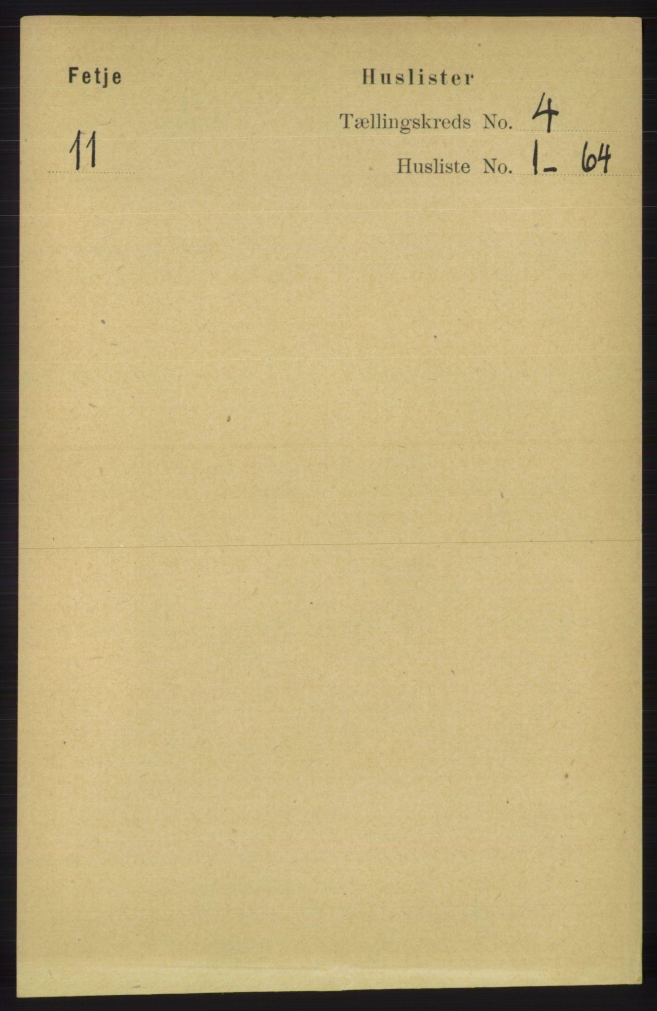 RA, Folketelling 1891 for 1222 Fitjar herred, 1891, s. 1288