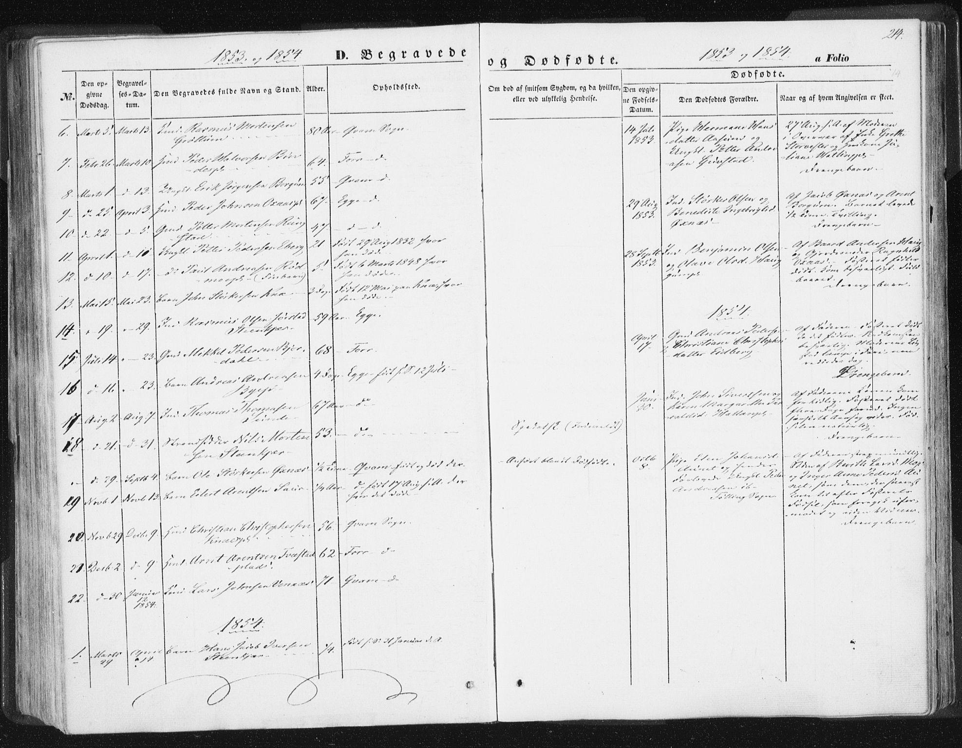 SAT, Ministerialprotokoller, klokkerbøker og fødselsregistre - Nord-Trøndelag, 746/L0446: Ministerialbok nr. 746A05, 1846-1859, s. 214