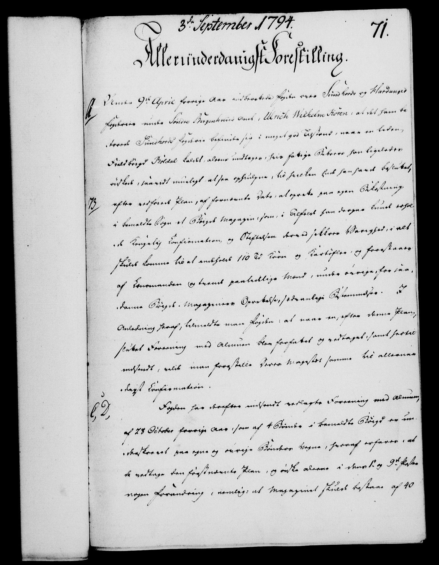 RA, Rentekammeret, Kammerkanselliet, G/Gf/Gfa/L0076: Norsk relasjons- og resolusjonsprotokoll (merket RK 52.76), 1794, s. 334