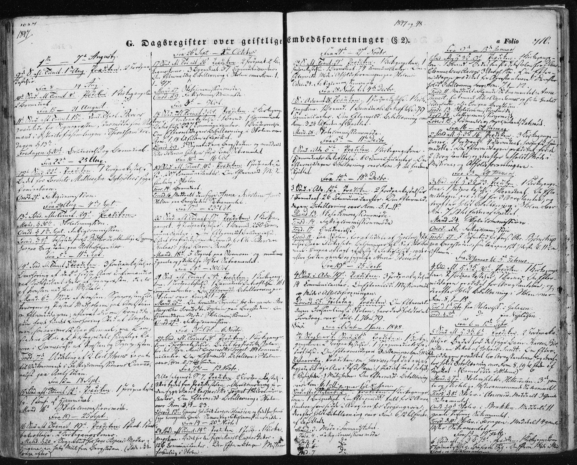 SAT, Ministerialprotokoller, klokkerbøker og fødselsregistre - Sør-Trøndelag, 681/L0931: Ministerialbok nr. 681A09, 1845-1859, s. 710