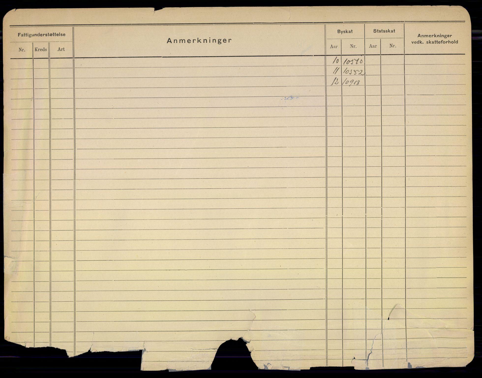 SAO, Oslo folkeregister, Registerkort, G/Gb/L0016: Kvinner, 1913