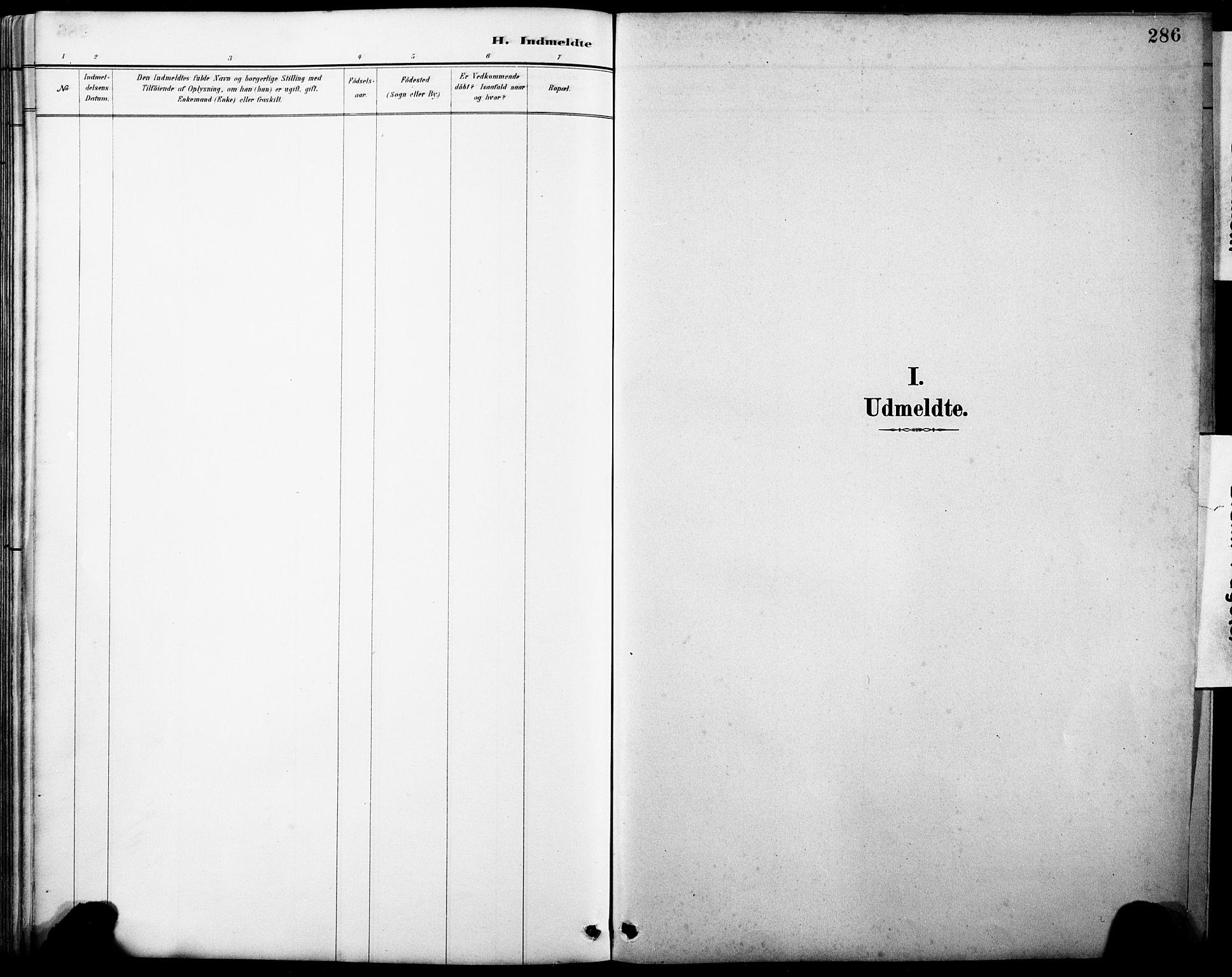 SAB, Askvoll Sokneprestembete, H/Hab/Haba/L0003: Klokkerbok nr. A 3, 1886-1928, s. 286