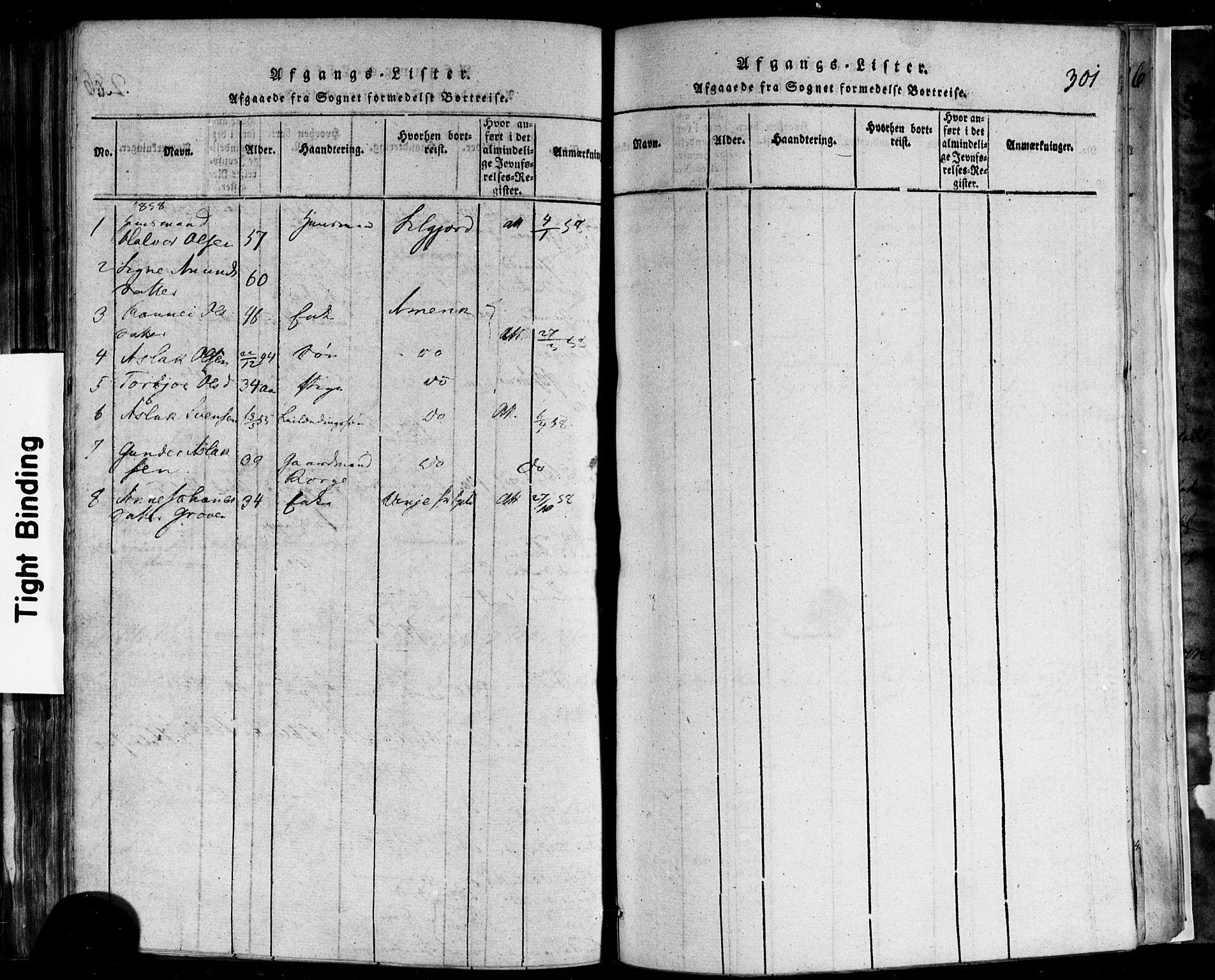 SAKO, Rauland kirkebøker, F/Fa/L0002: Ministerialbok nr. 2, 1815-1860, s. 301
