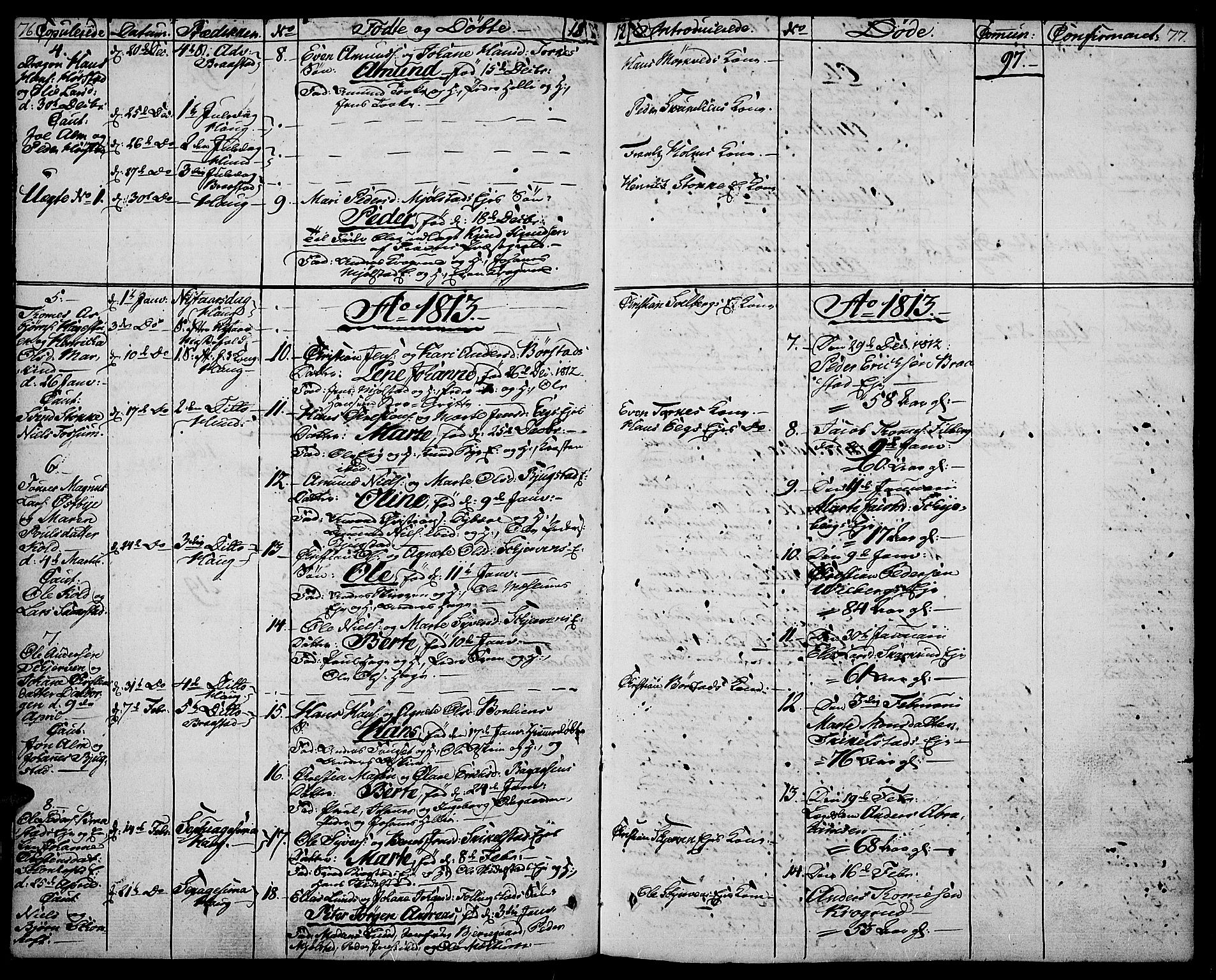SAH, Vardal prestekontor, H/Ha/Haa/L0003: Ministerialbok nr. 3, 1808-1814, s. 76-77
