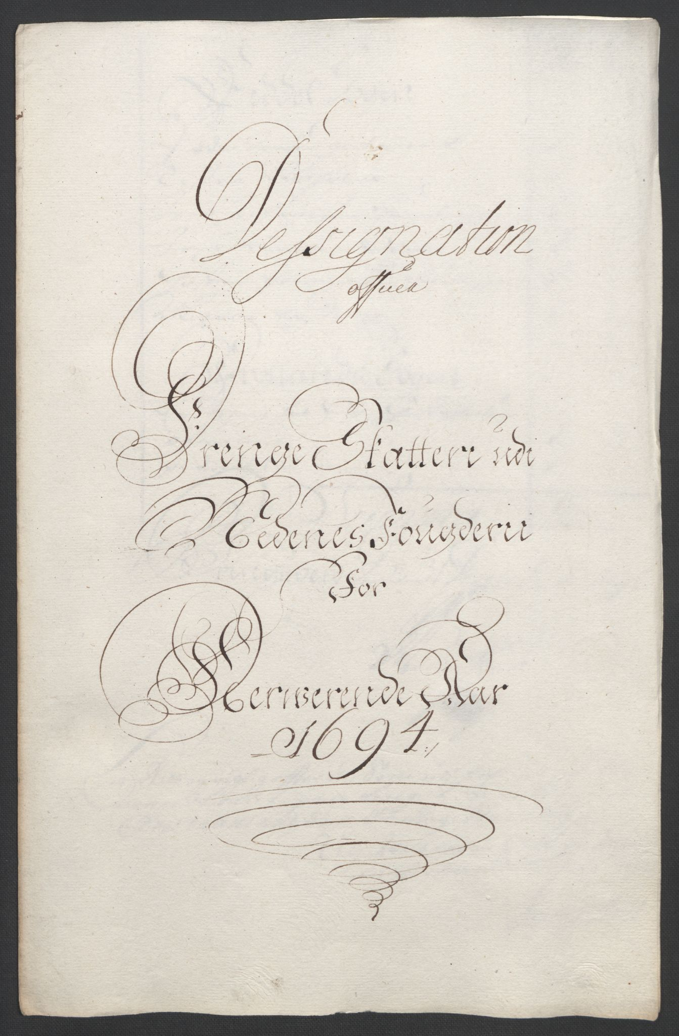 RA, Rentekammeret inntil 1814, Reviderte regnskaper, Fogderegnskap, R39/L2312: Fogderegnskap Nedenes, 1693-1695, s. 153