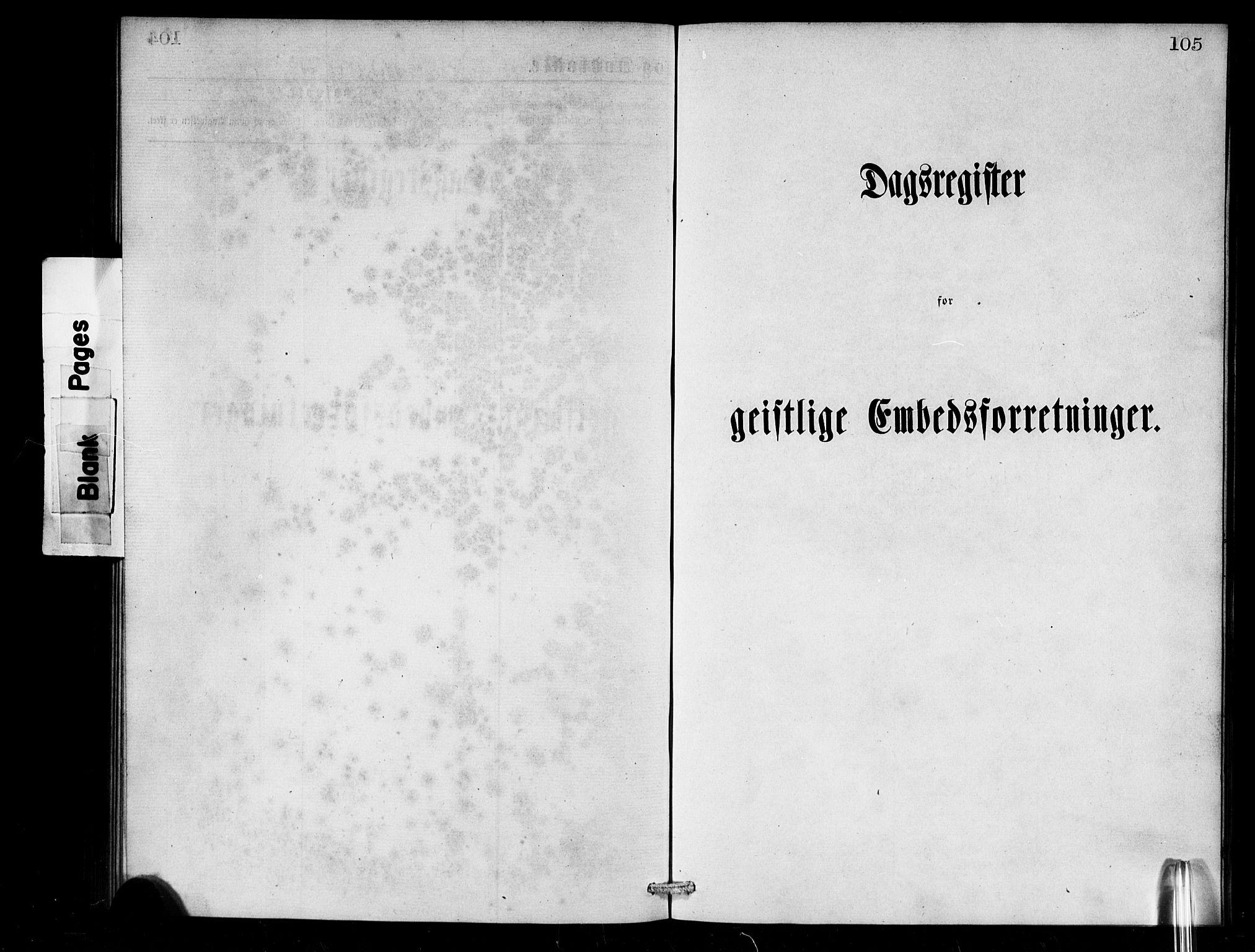 SAB,  Den norske sjømannsmisjon i utlandet/London m/bistasjoner, H/Ha/L0001: Ministerialbok nr. A 1, 1868-1887, s. 105