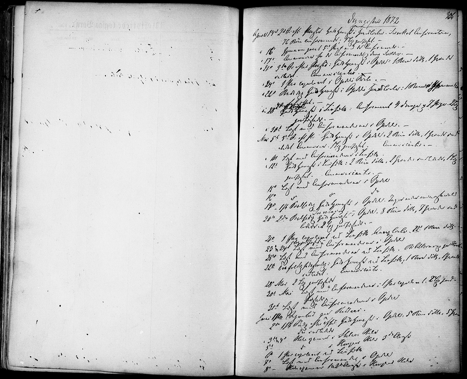 SAT, Ministerialprotokoller, klokkerbøker og fødselsregistre - Sør-Trøndelag, 678/L0900: Ministerialbok nr. 678A09, 1872-1881, s. 306