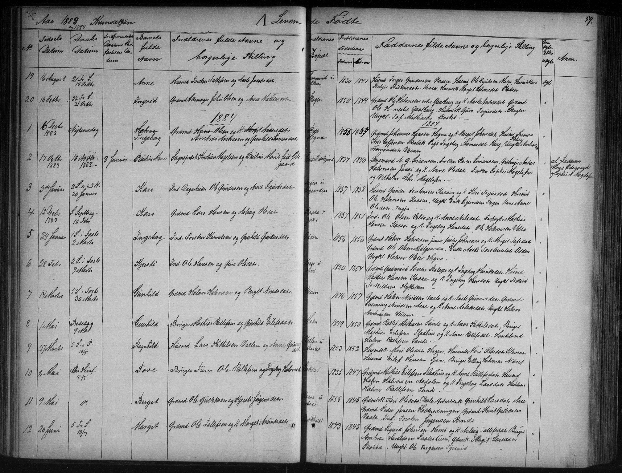 SAKO, Sauherad kirkebøker, G/Ga/L0003: Klokkerbok nr. I 3, 1866-1905, s. 59