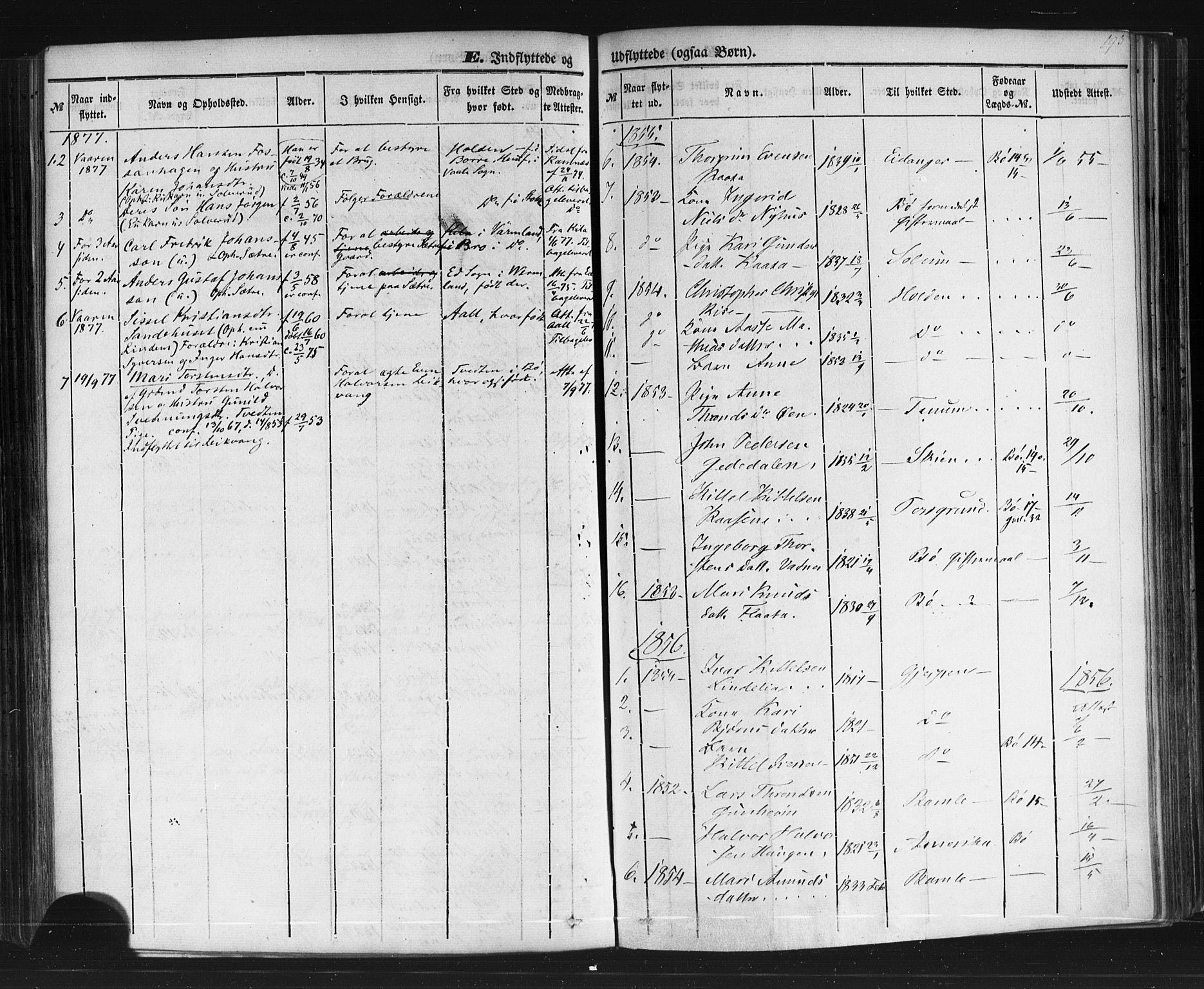 SAKO, Sauherad kirkebøker, F/Fb/L0001: Ministerialbok nr. II 1, 1851-1877, s. 193