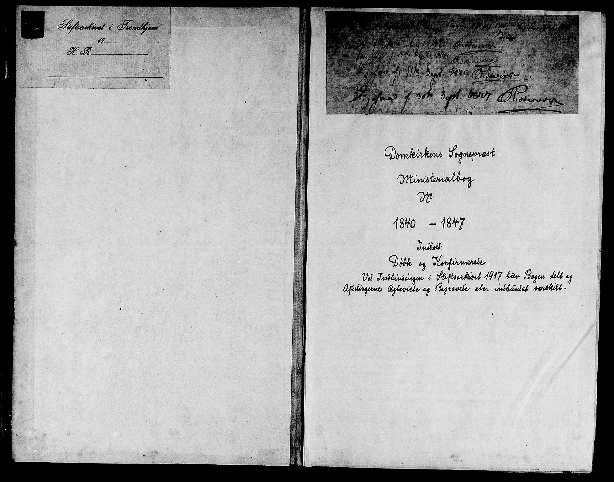 SAT, Ministerialprotokoller, klokkerbøker og fødselsregistre - Sør-Trøndelag, 601/L0048: Ministerialbok nr. 601A16, 1840-1847