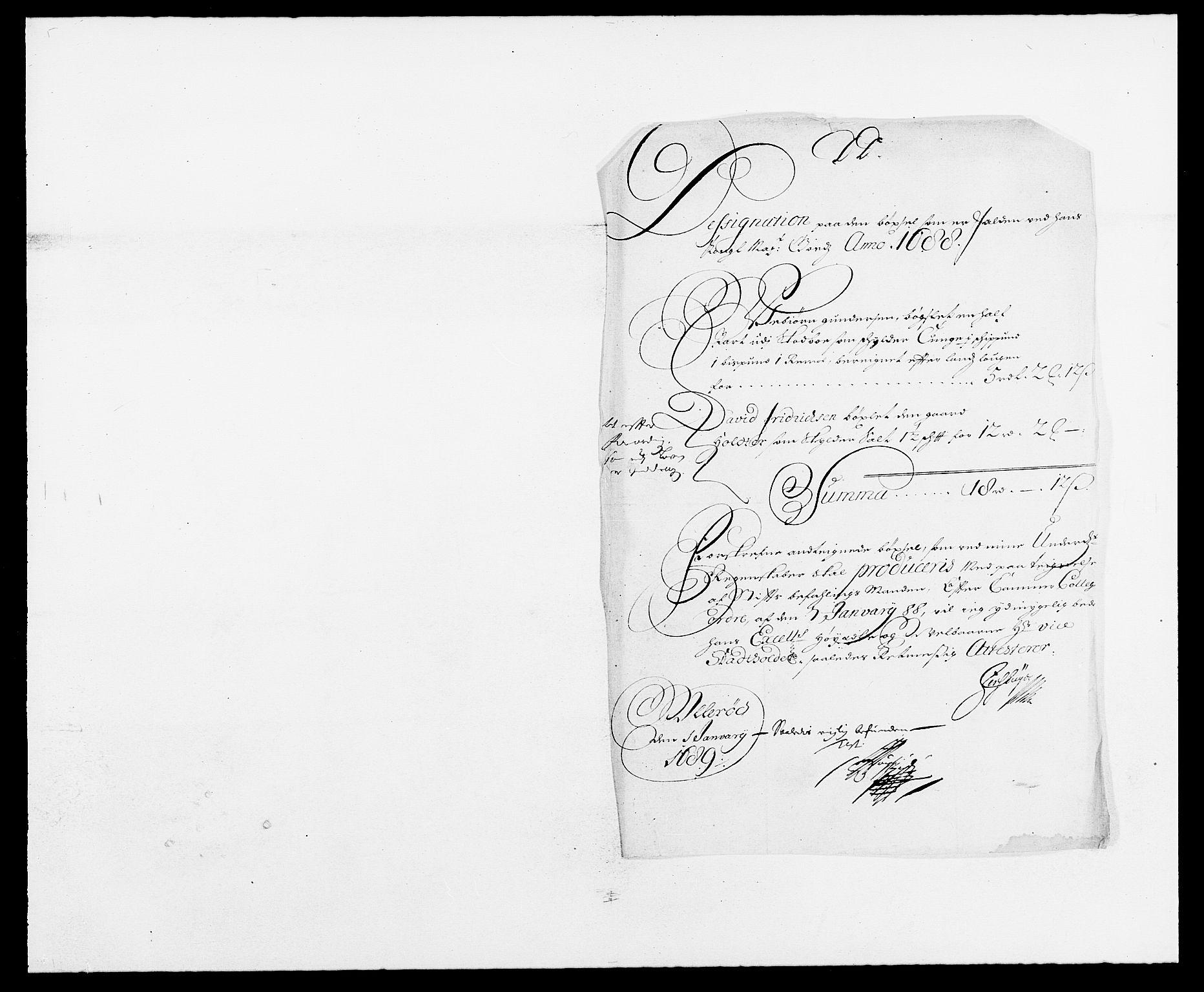 RA, Rentekammeret inntil 1814, Reviderte regnskaper, Fogderegnskap, R09/L0434: Fogderegnskap Follo, 1687-1688, s. 214