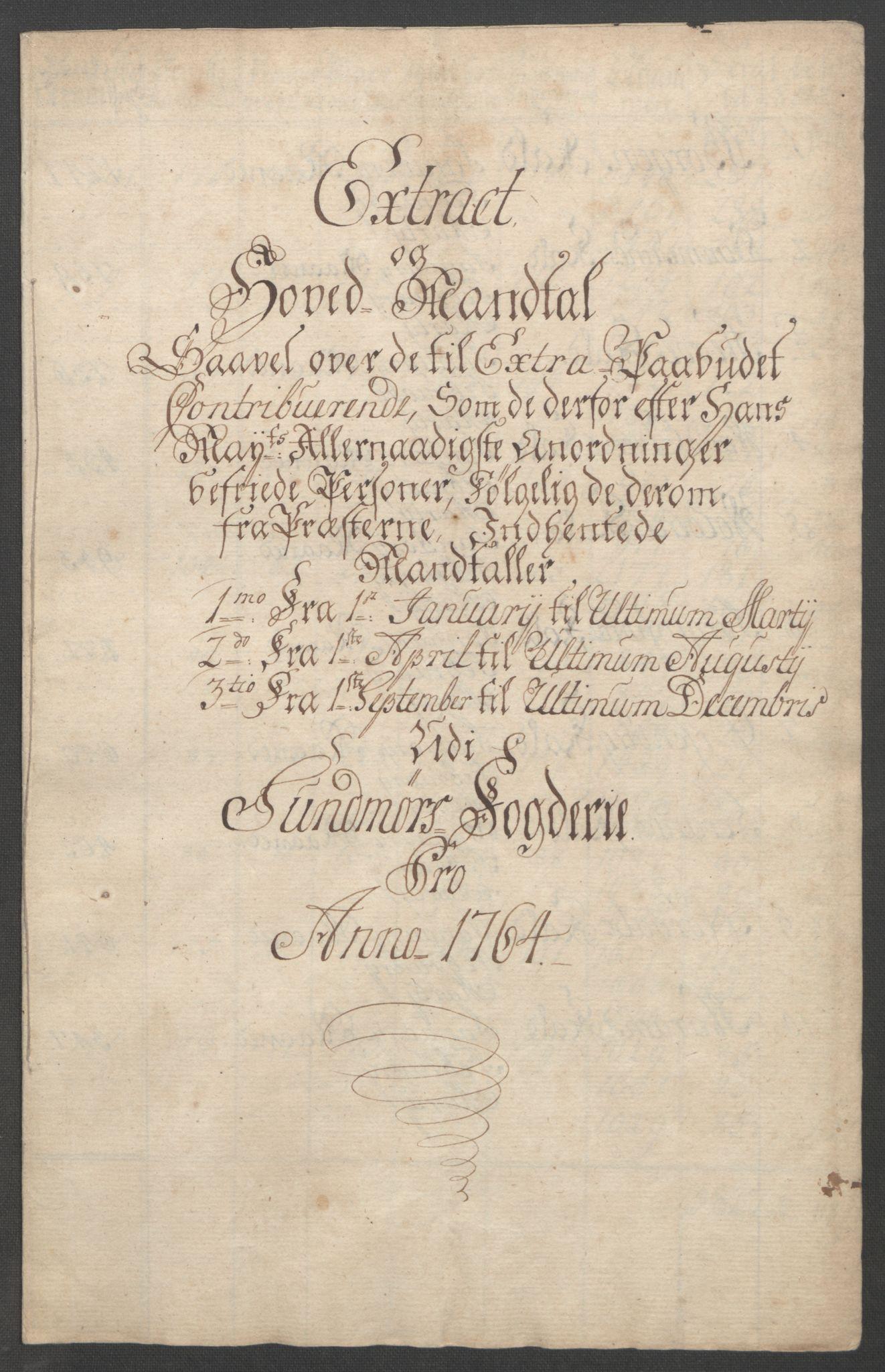 RA, Rentekammeret inntil 1814, Reviderte regnskaper, Fogderegnskap, R54/L3645: Ekstraskatten Sunnmøre, 1762-1772, s. 42